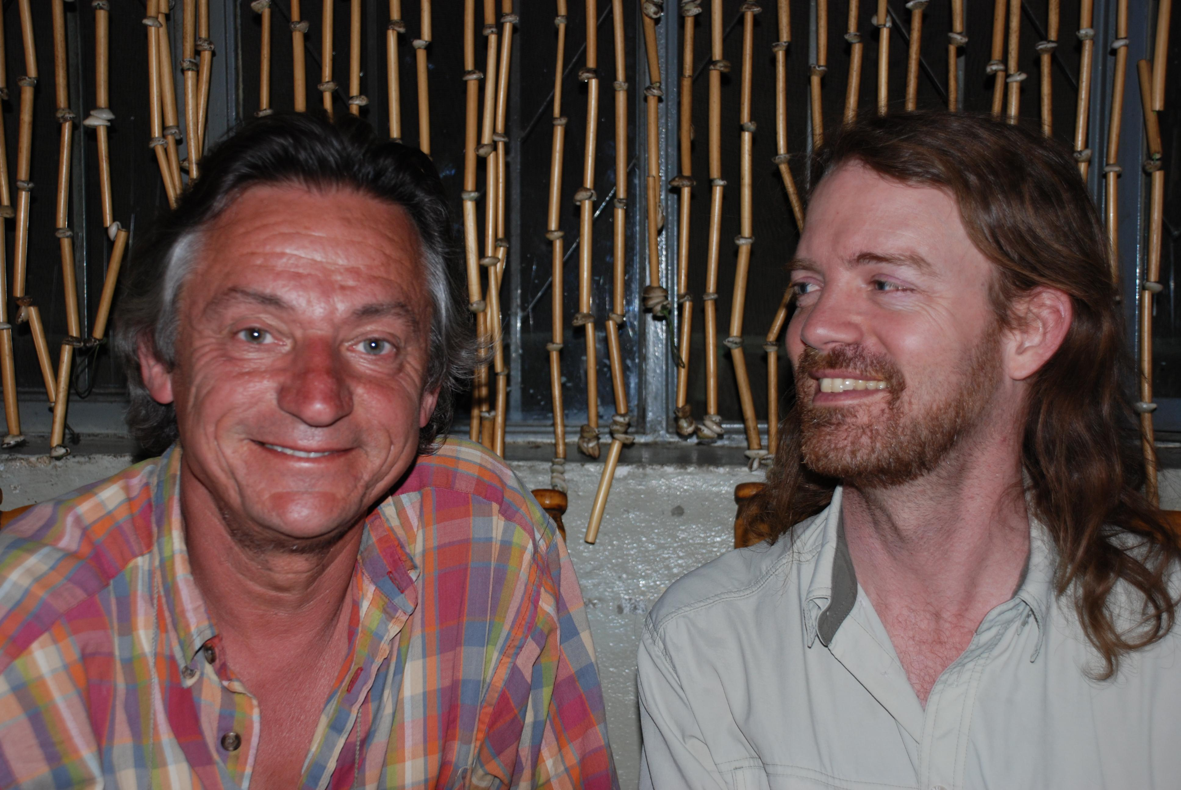 Eric and Will, Habesha Restaurant, Gonder, Ethiopia