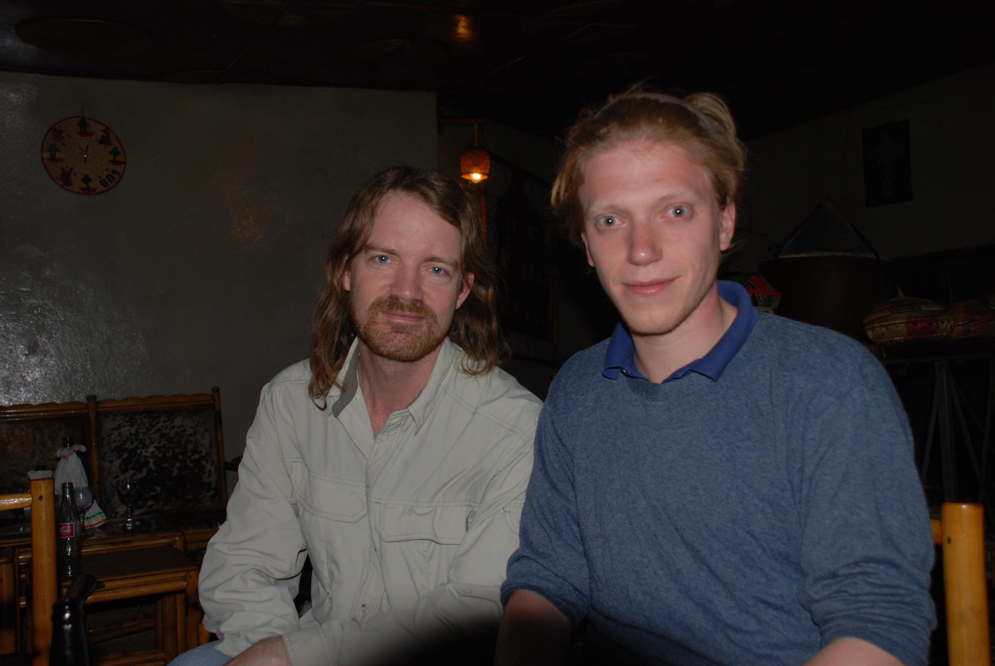 Will and Thomas, Habesha Restaurant, Gonder, Ethiopia