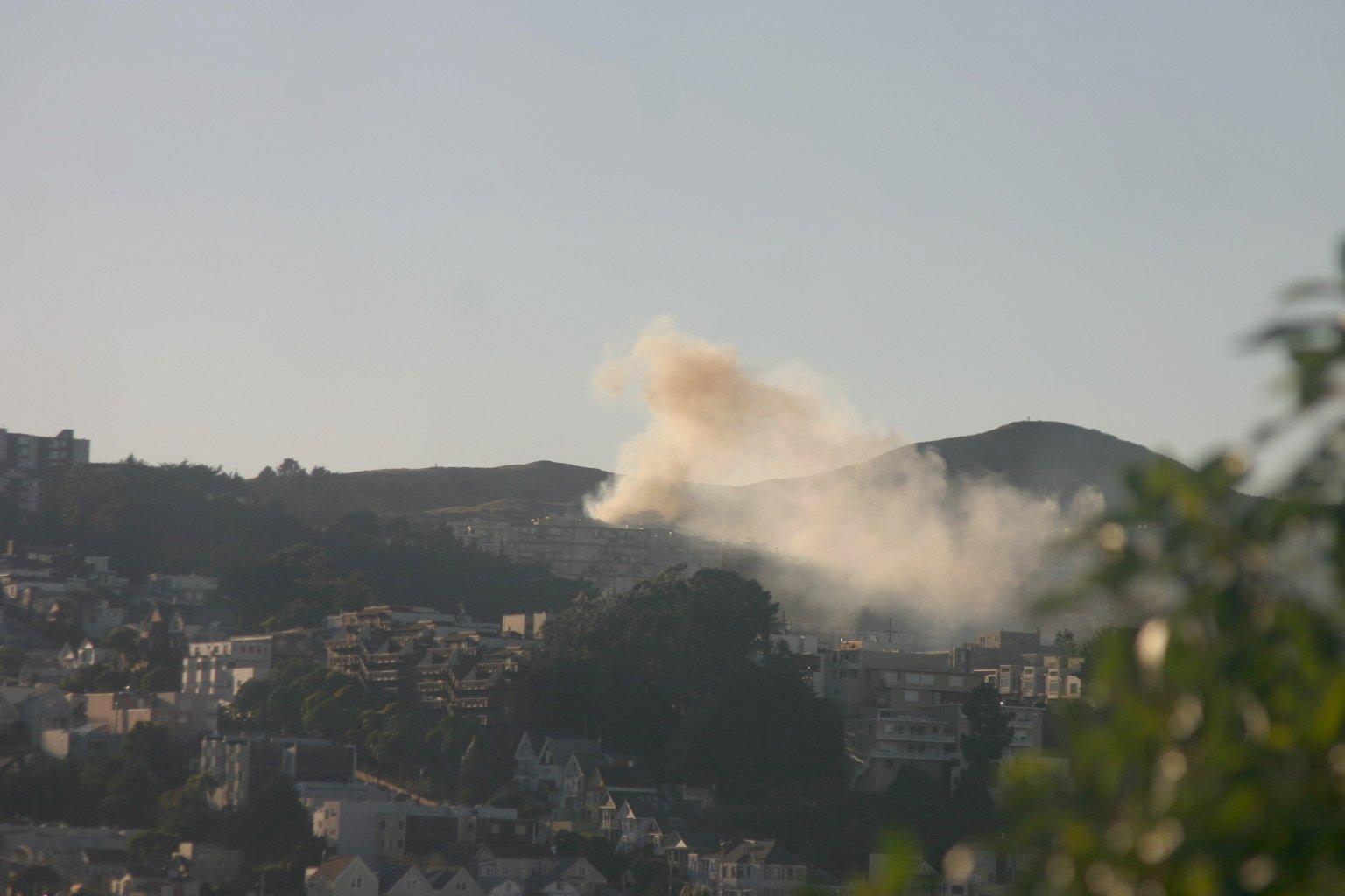 Column of Smoke on Twin Peaks