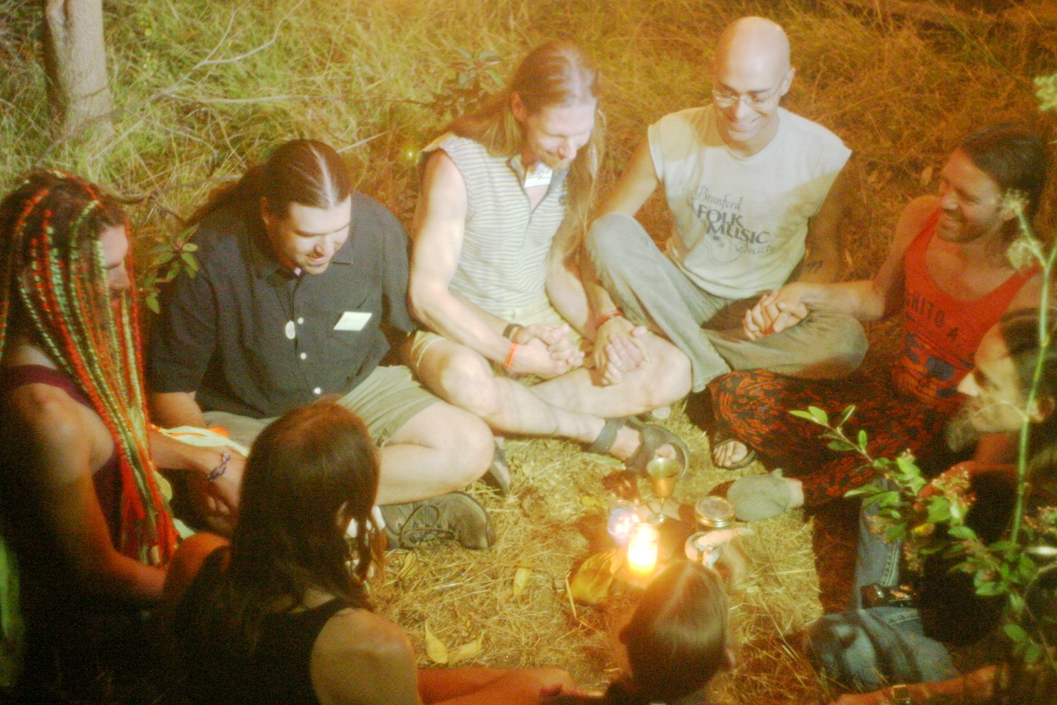 Holding Hands in Ritual Circle