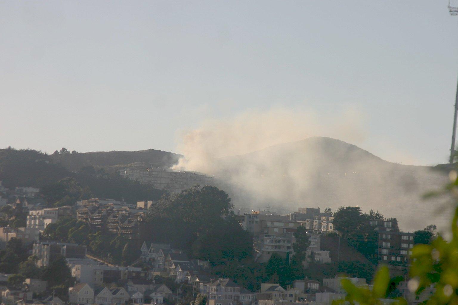 Smoke Spreads Down Twin Peaks