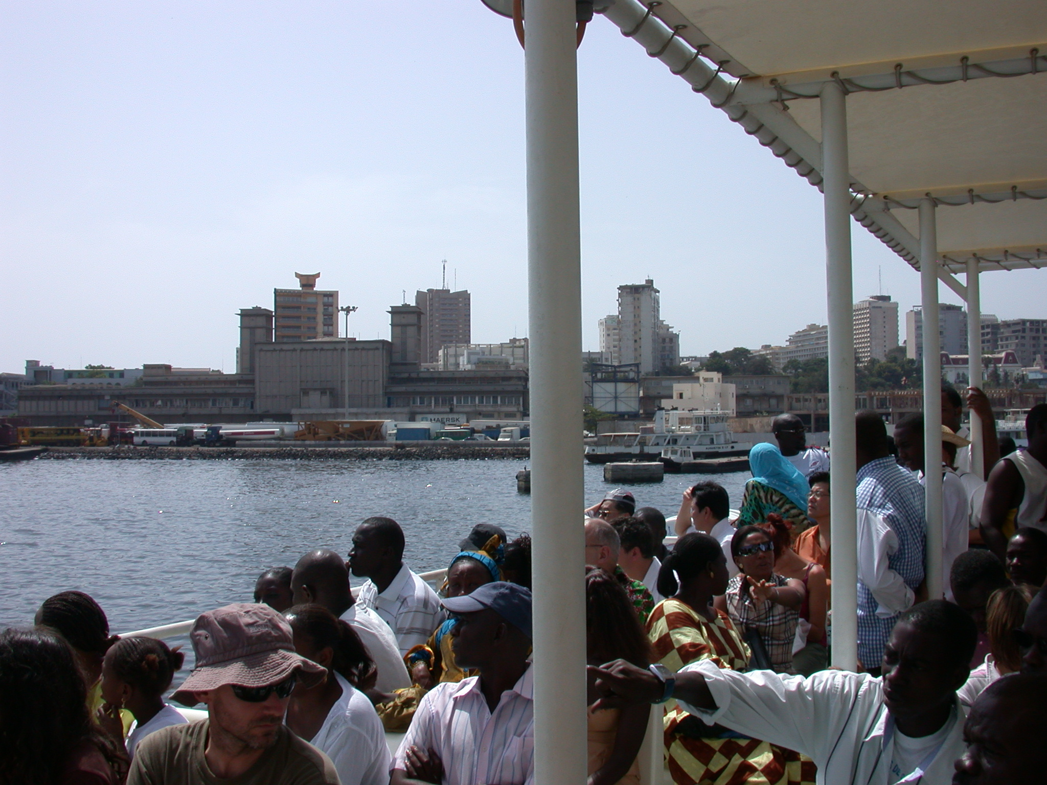 View of Dakar Harbor From Ile de Goree Ferry