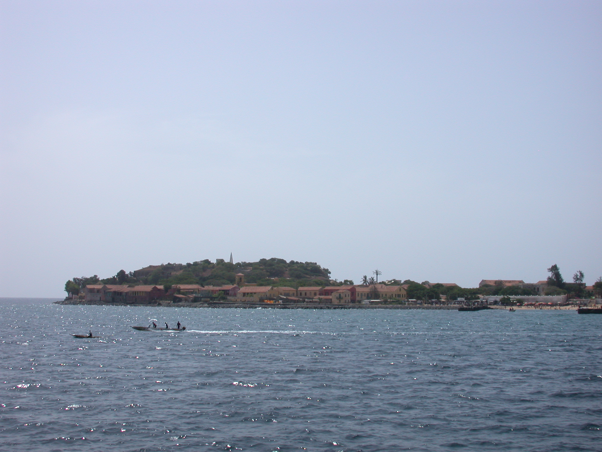 Round the Point of Ile de Goree on the Ferry