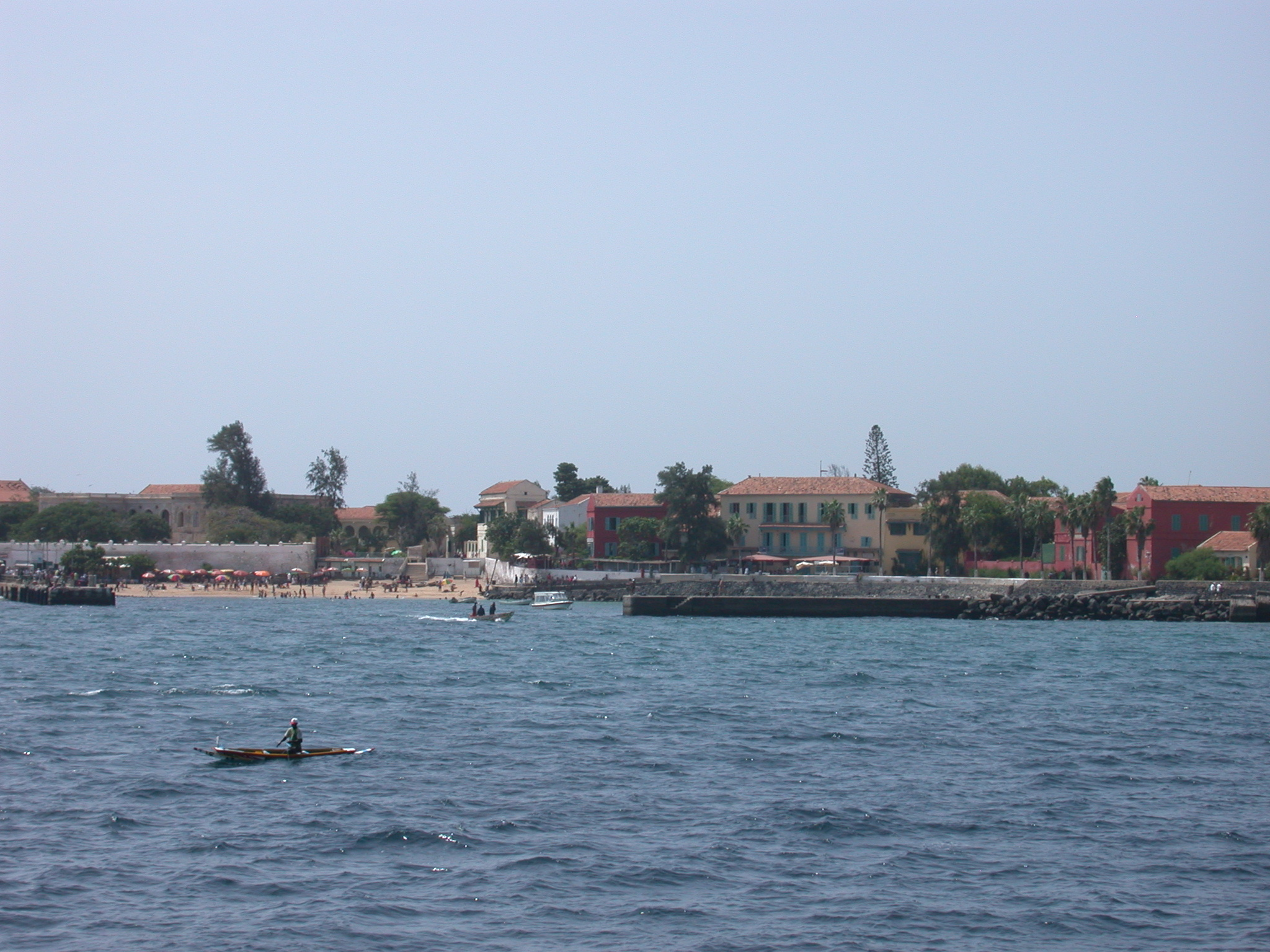 The Beach at Ile de Goree From the Ferry