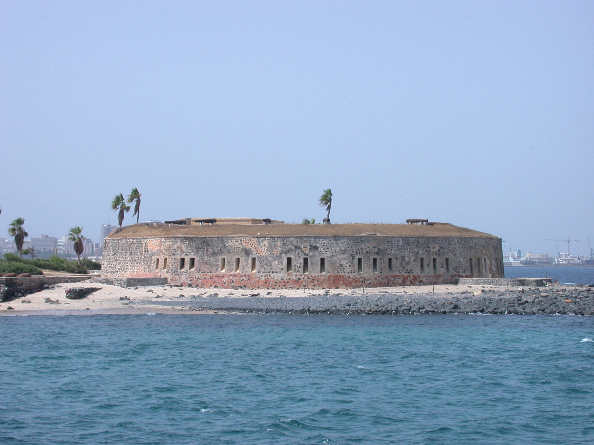 Ile de Goree Fortress and Museum From the Ferry