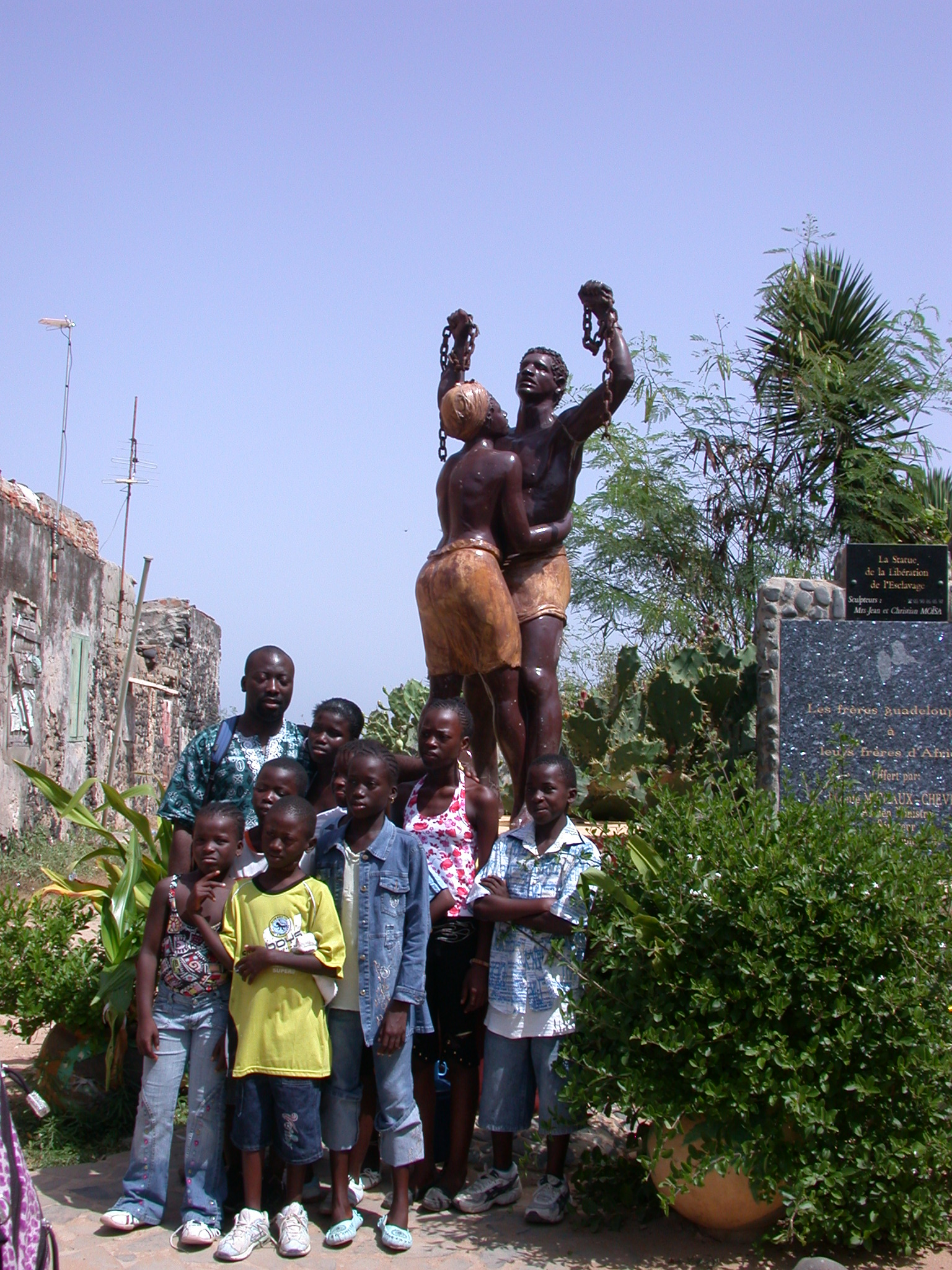 Statue of the Liberation From Slavery, Ile de Goree, Dakar, Senegal