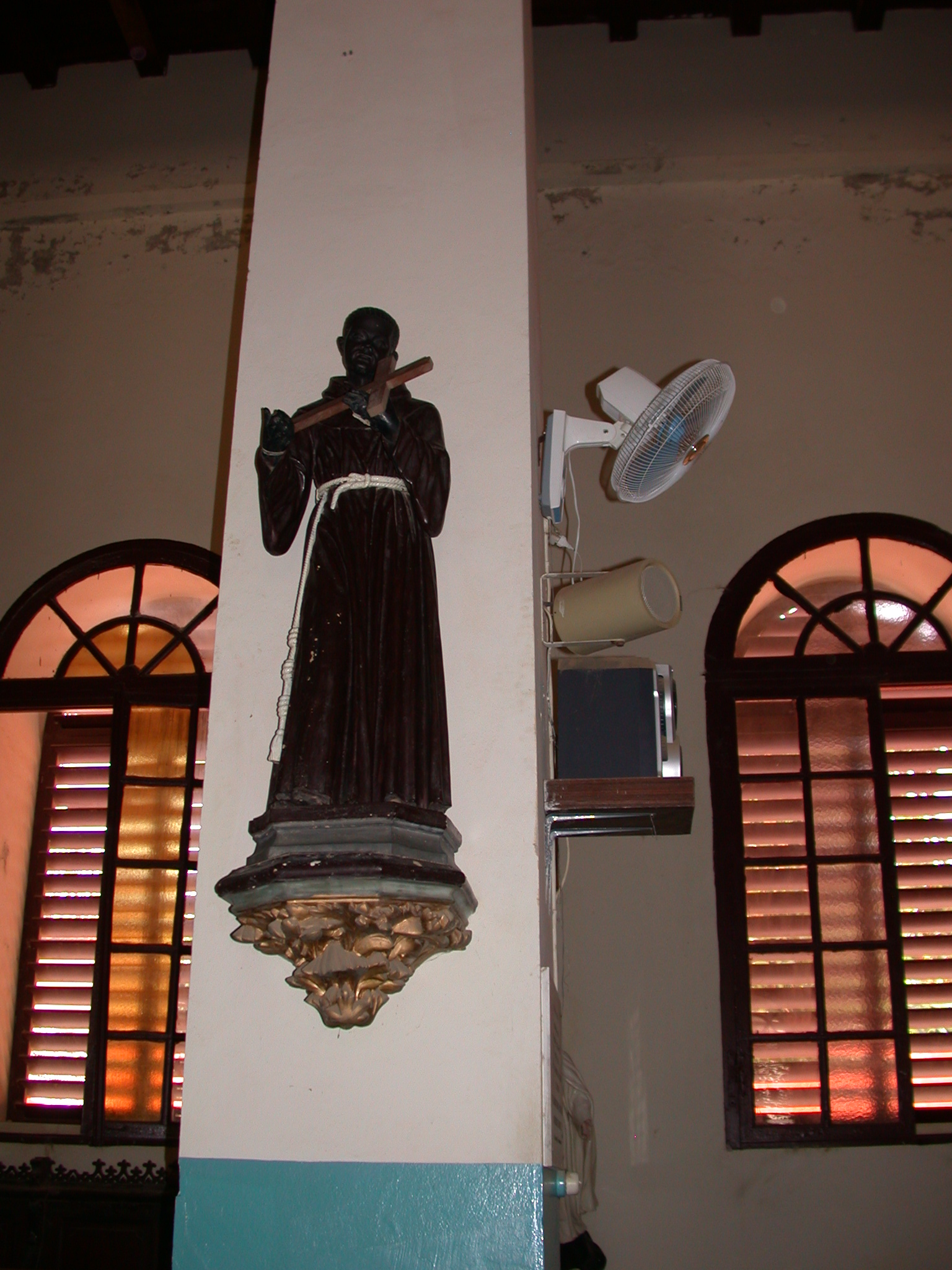 Second Black Figure in Cathedral, Ile de Goree, Dakar, Senegal