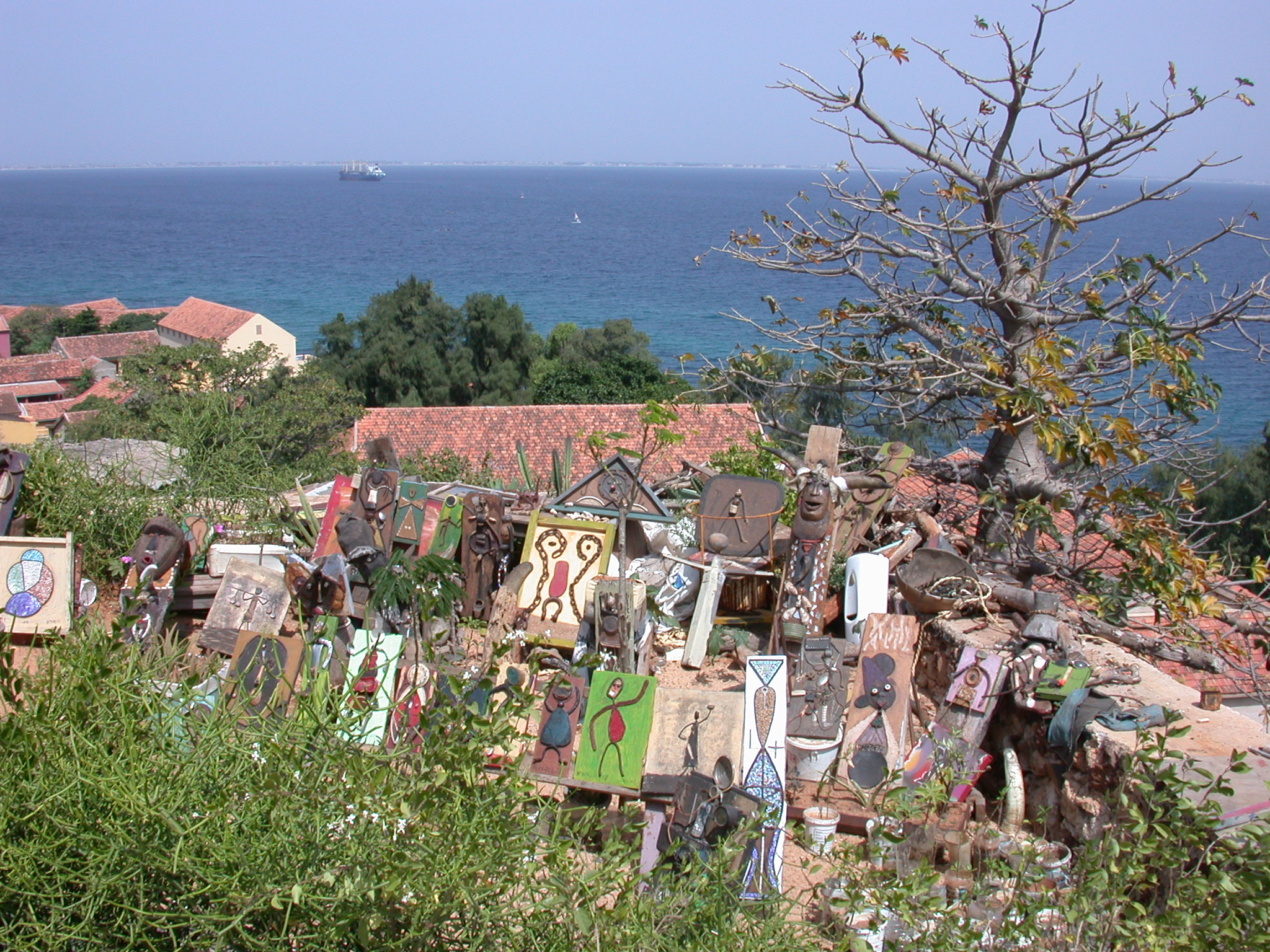 Artist Shop on Top of Peak at Ile de Goree, Dakar, Senegal