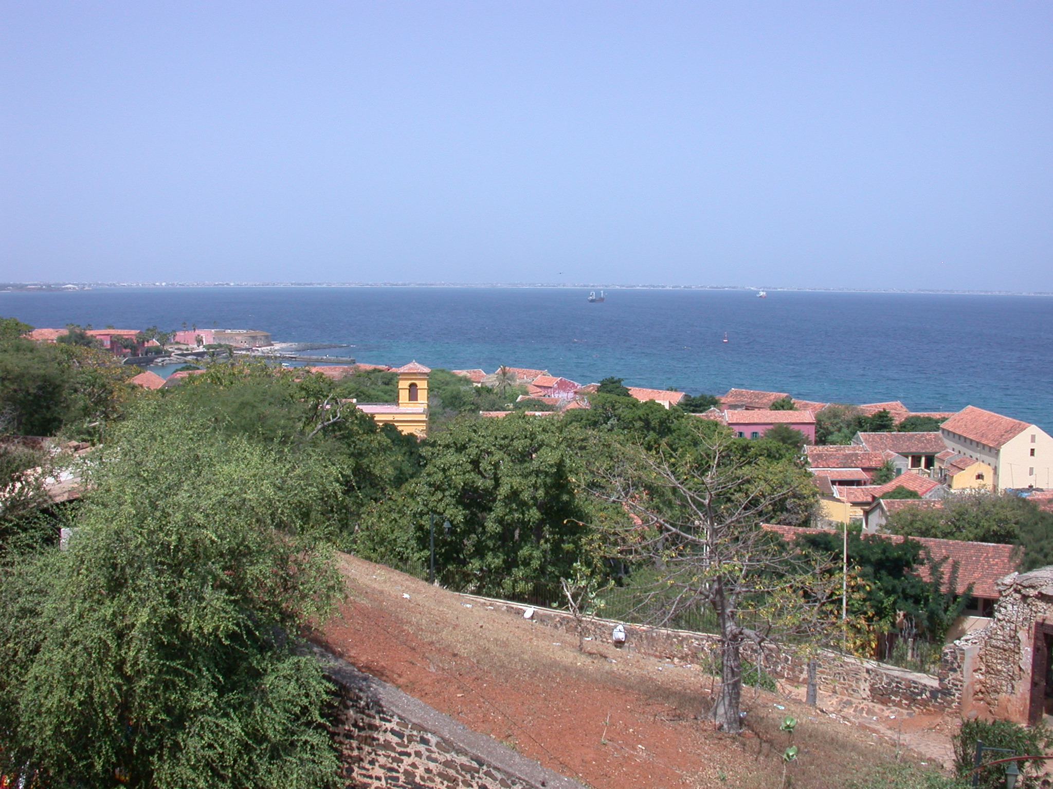 View From Peak Over Town on Ile de Goree, Dakar, Senegal