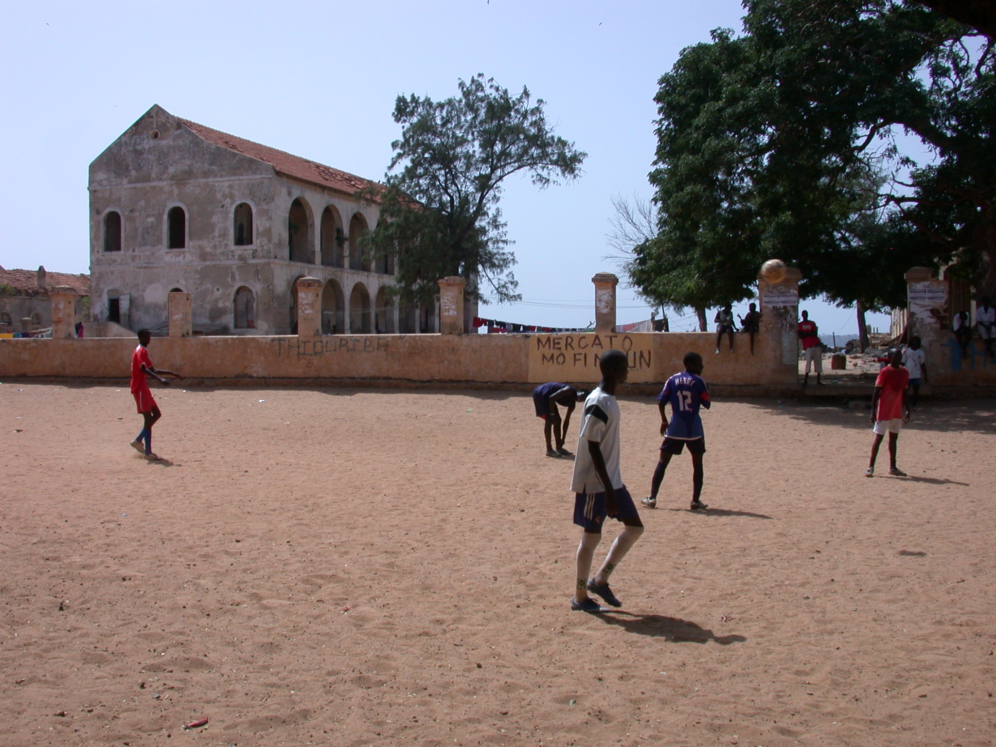 Young Guys Playing Soccer, Ile de Goree, Dakar, Senegal