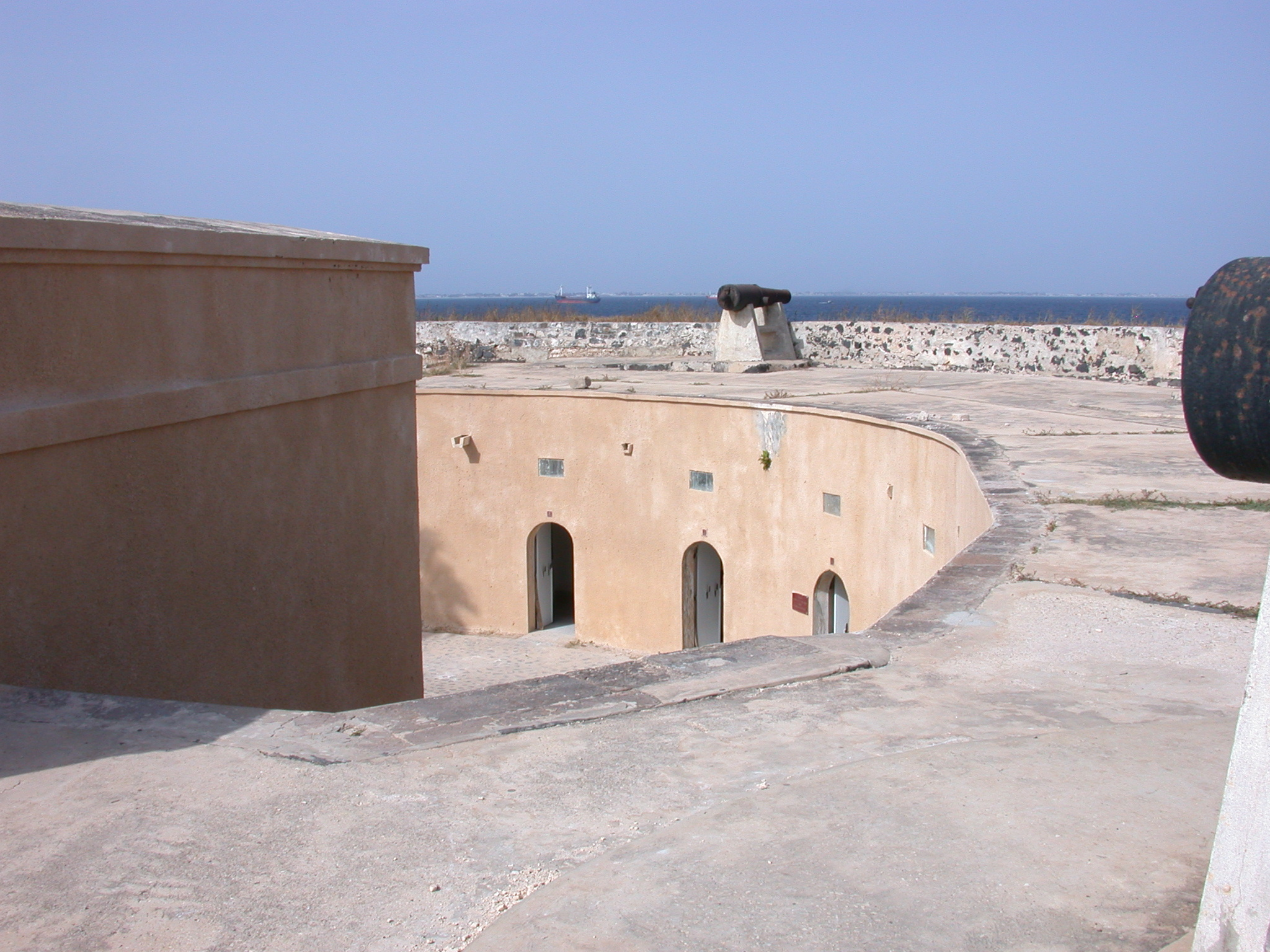 View From Top of Fortress Down Into Musee Historique, Ile de Goree, Dakar, Senegal