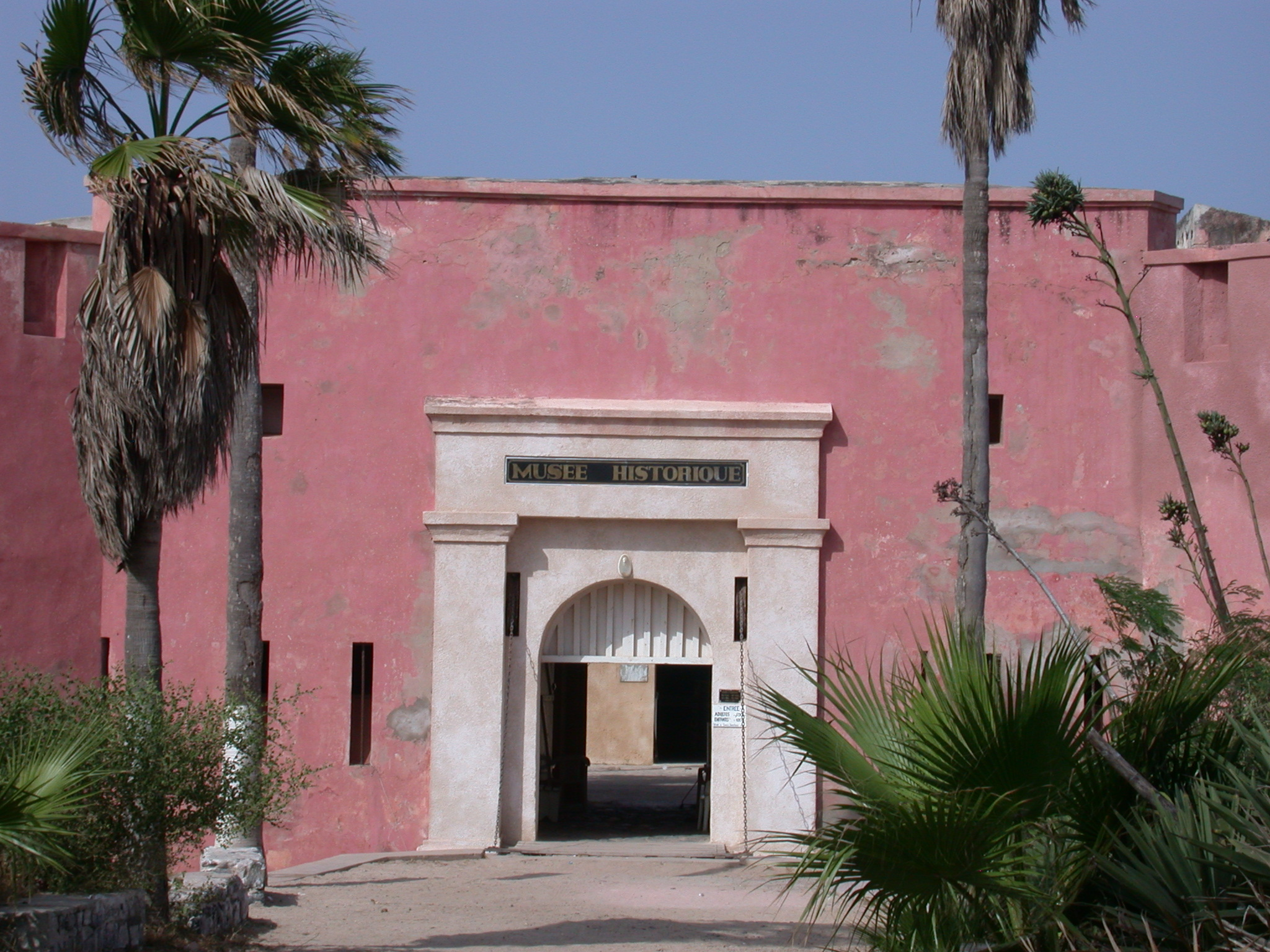 Entrance of Musee Historique IFAN at Ile de Goree, Dakar, Senegal