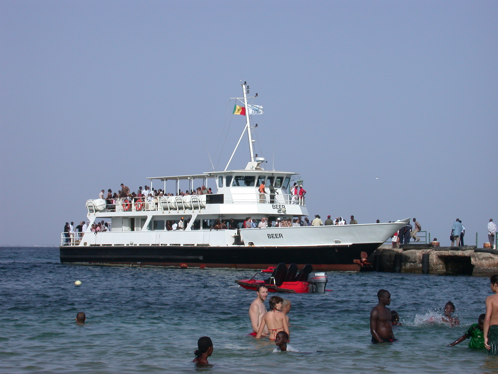 Beer Ferry Viewed From the Beach, Ile de Goree, Dakar, Senegal