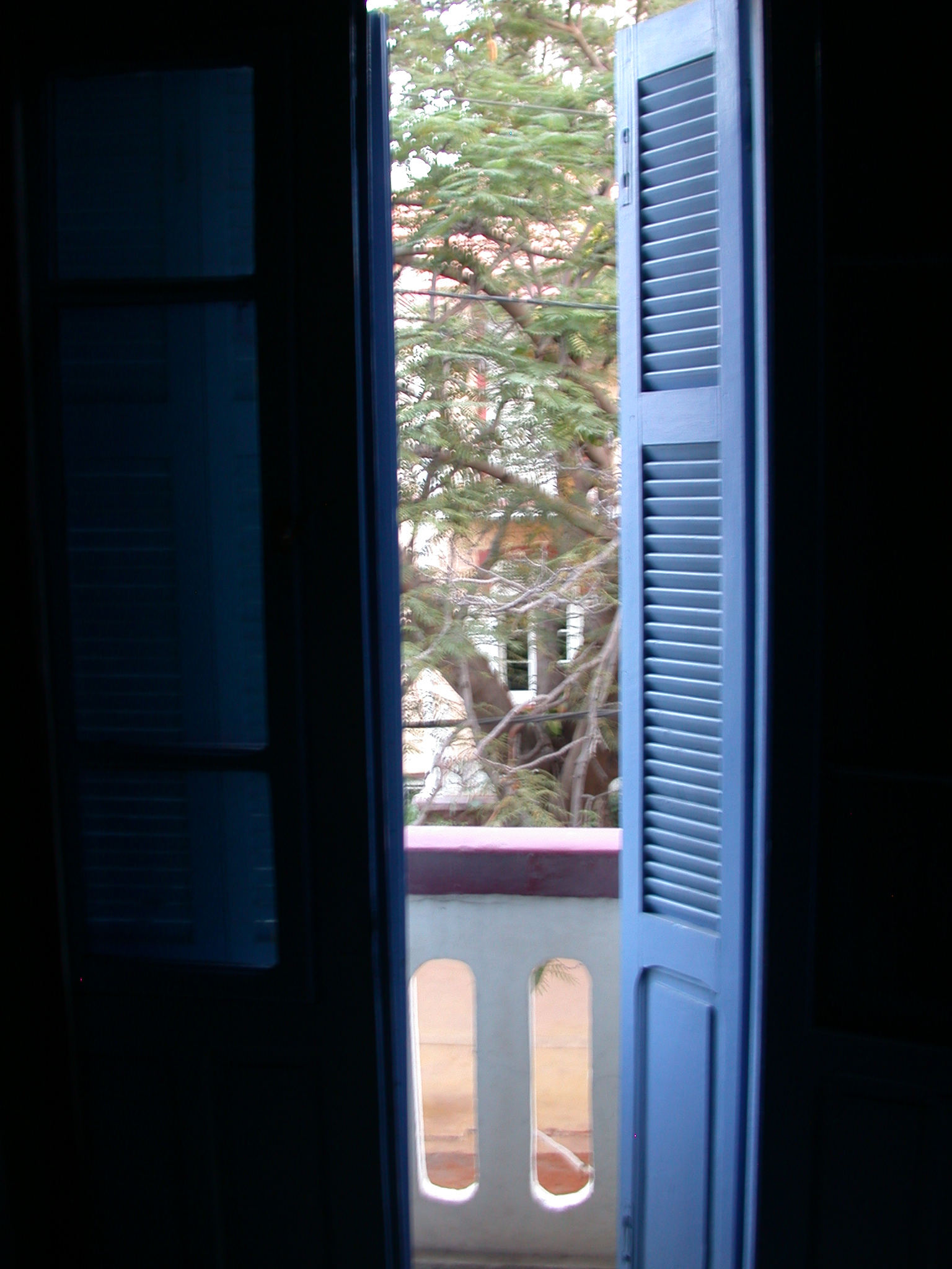 Window of My Second Room, Hotel Oceanic, Dakar, Senegal