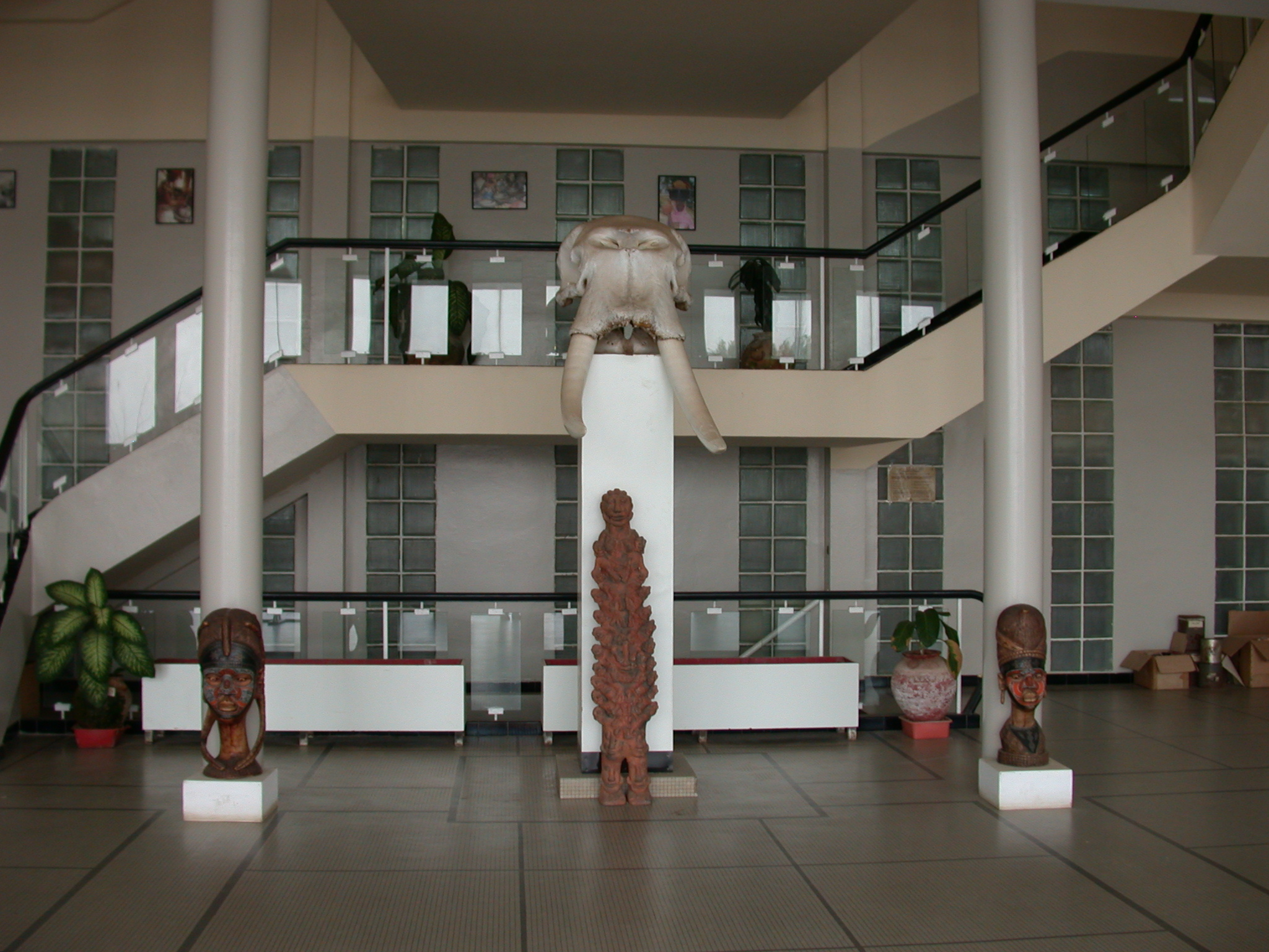Entrance Hall of Institut Fondamental de l Afrique Noire, IFAN, Dakar, Senegal
