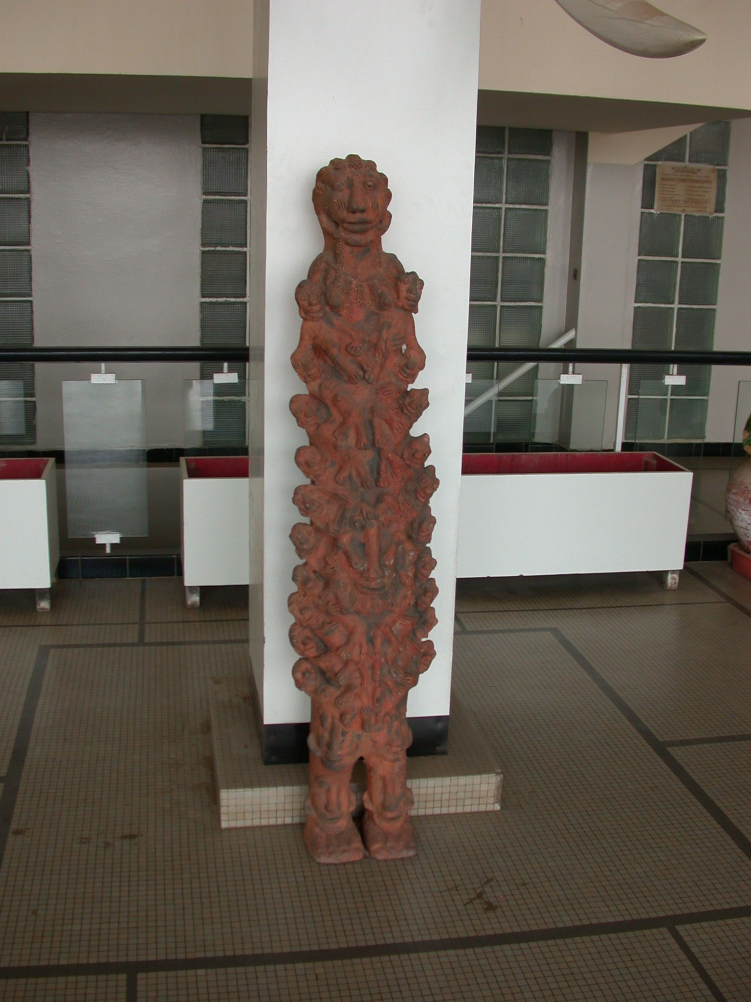 Sculpture in Entrance Hall of Institut Fondamental de l Afrique Noire, IFAN, Dakar, Senegal