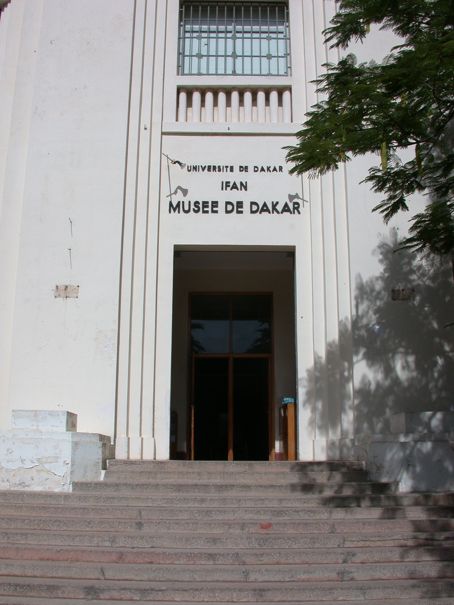 Entrance of Institut Fondamental de l Afrique Noire Museum, IFAN, Dakar, Senegal