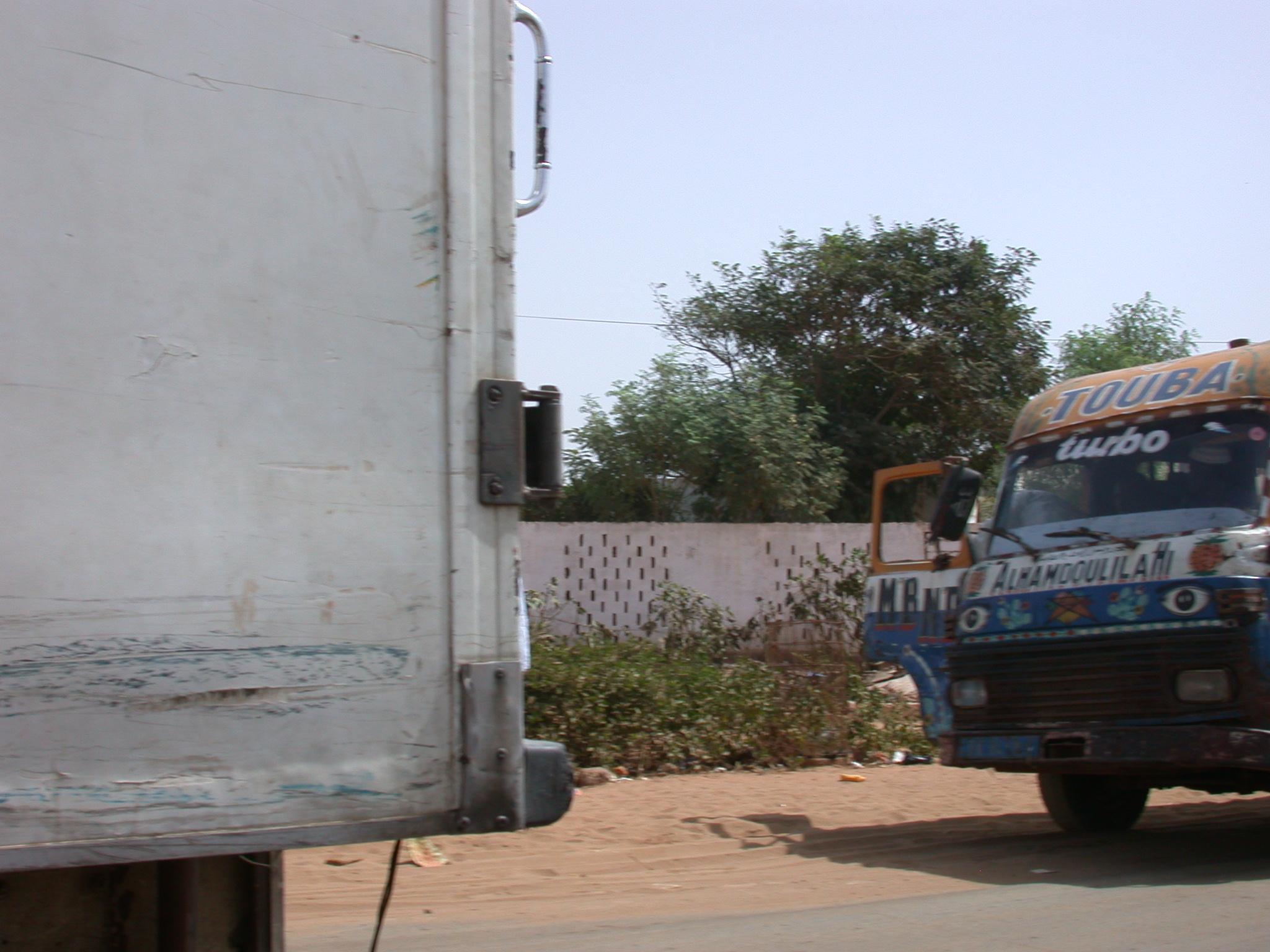 Front of Elhamdulilah Bus, Dakar, Senegal