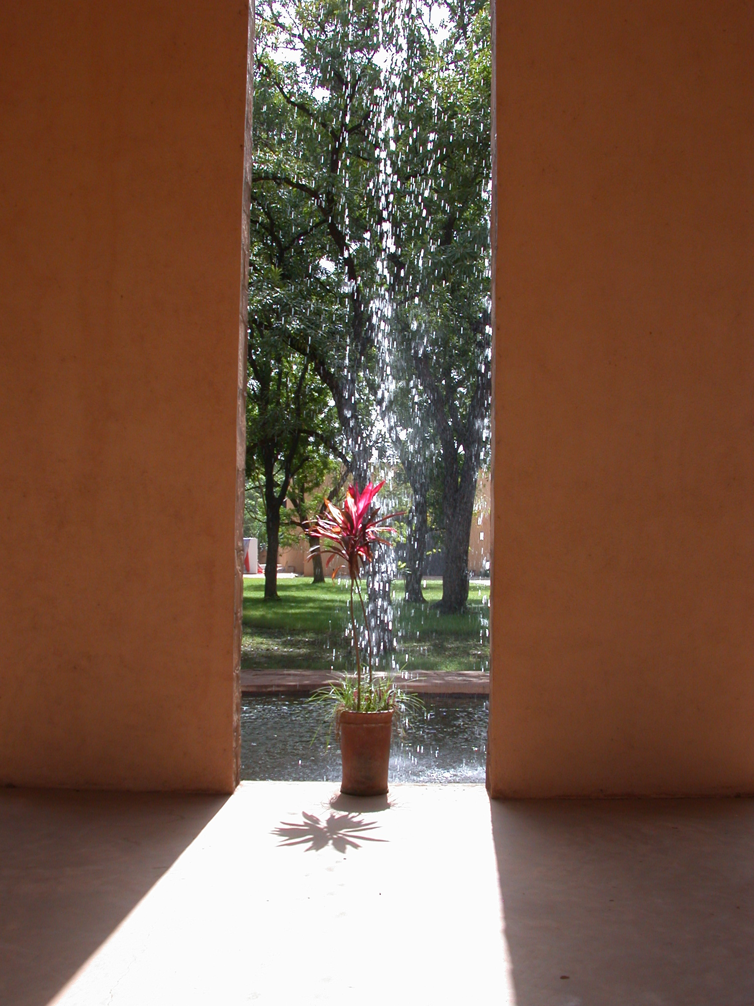 Waterfall Over Flower at Entrance of Musee Nationale du Mali