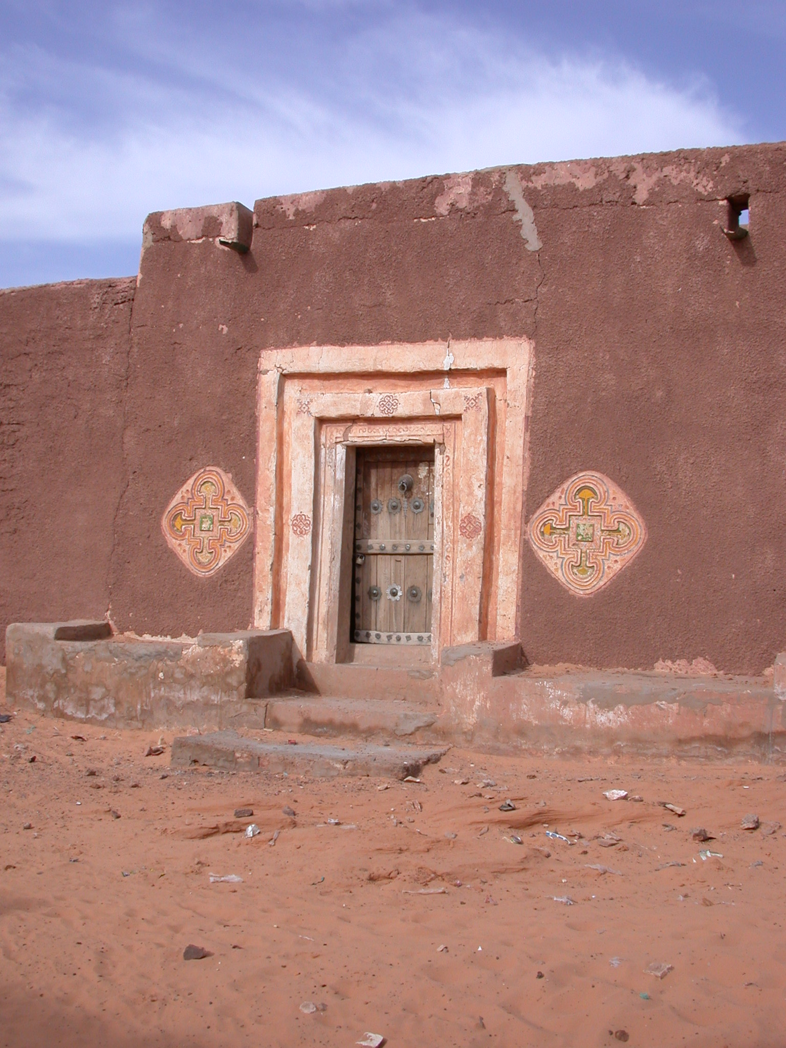 Doorway in Ancient City of Oulata, Mauritania