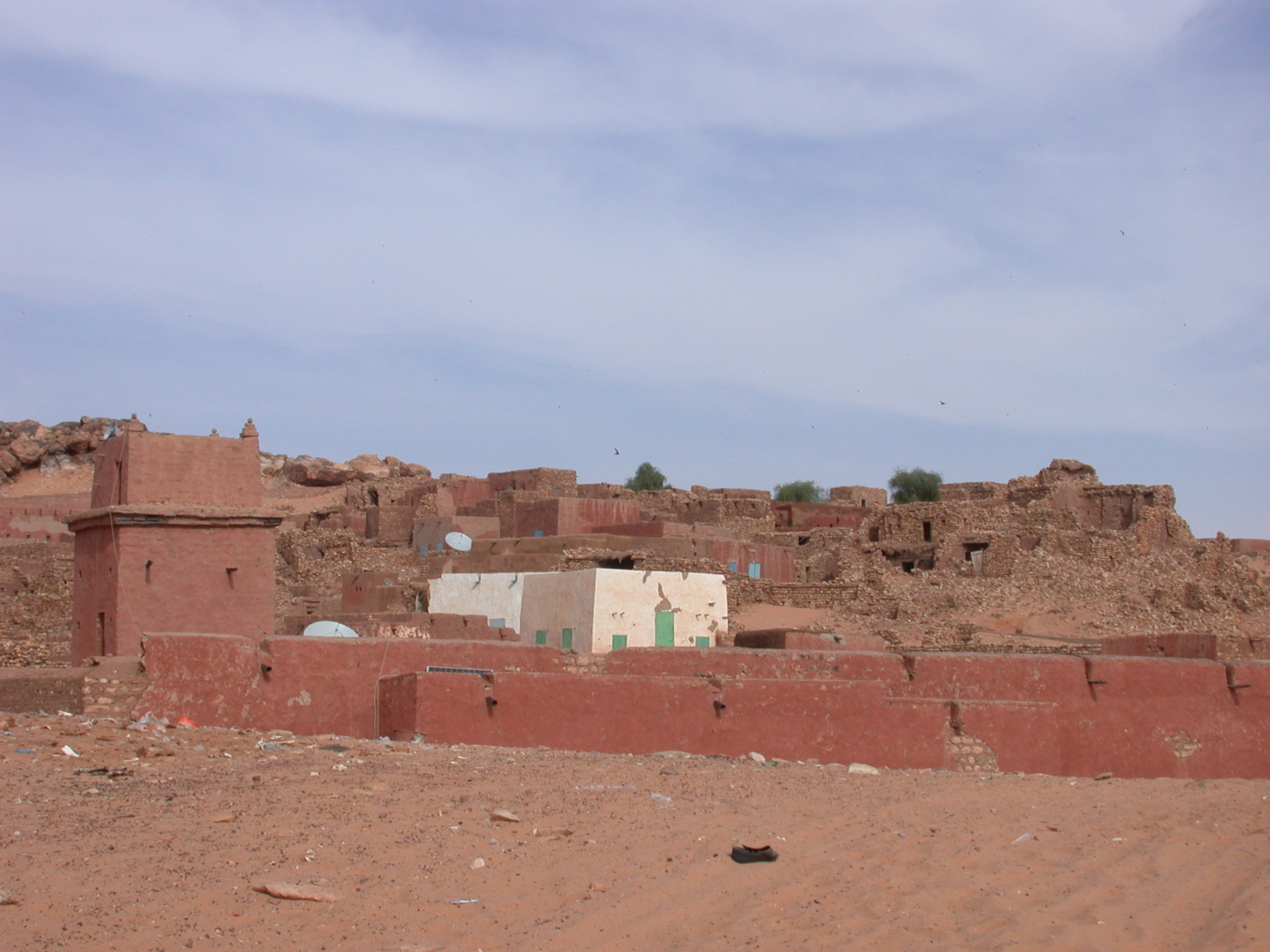 Mosque and City View of Ancient City of Oulata, Mauritania
