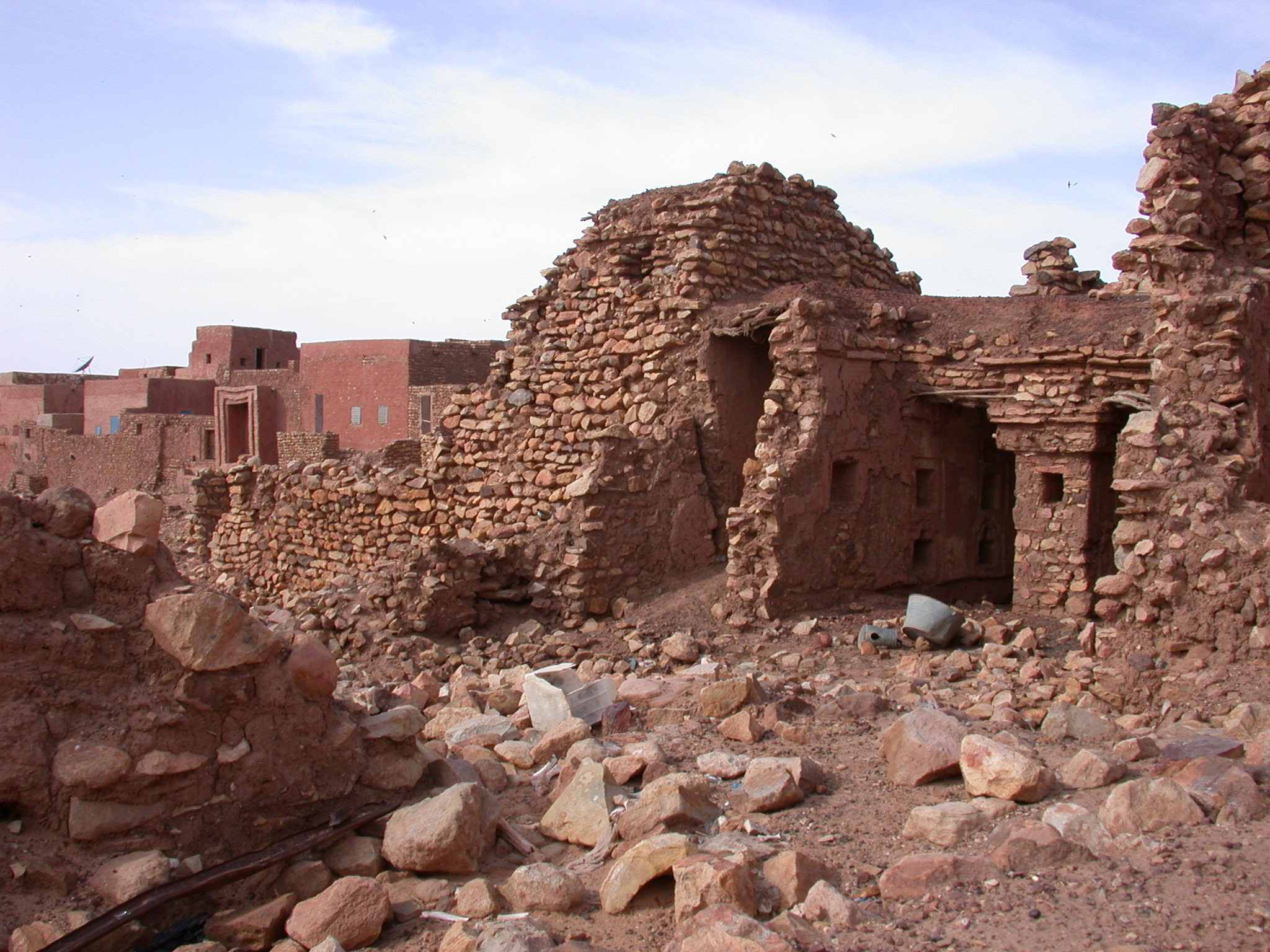 Ruins in Ancient City of Oulata, Mauritania