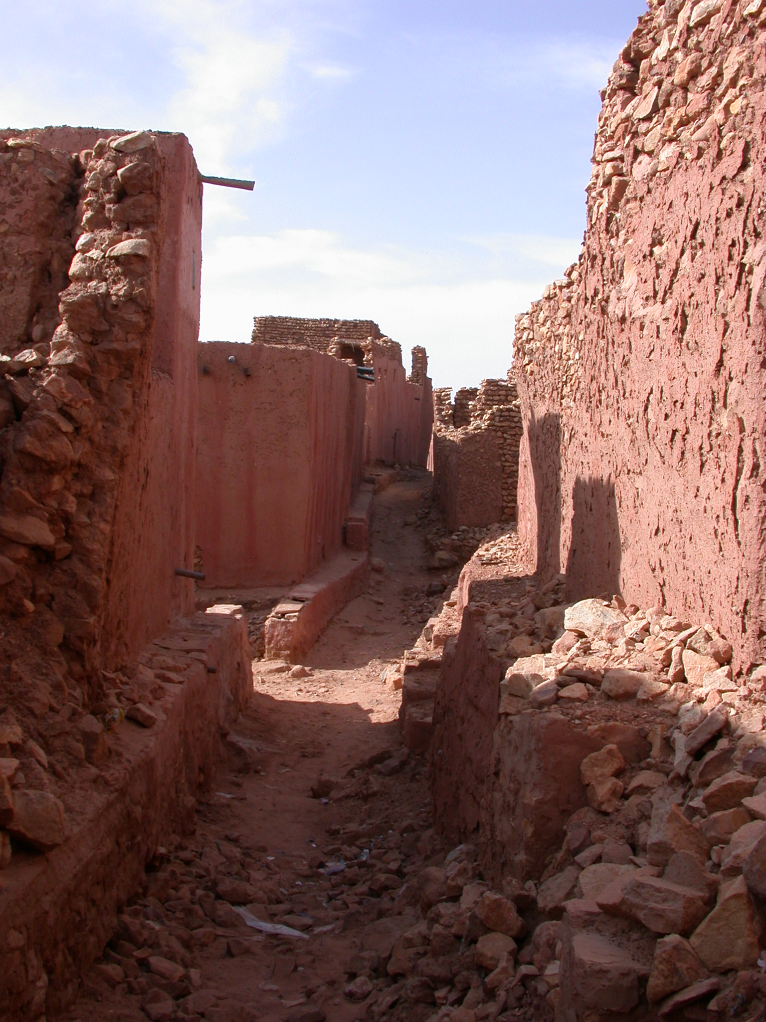 Thin Passage in Ancient City of Oulata, Mauritania