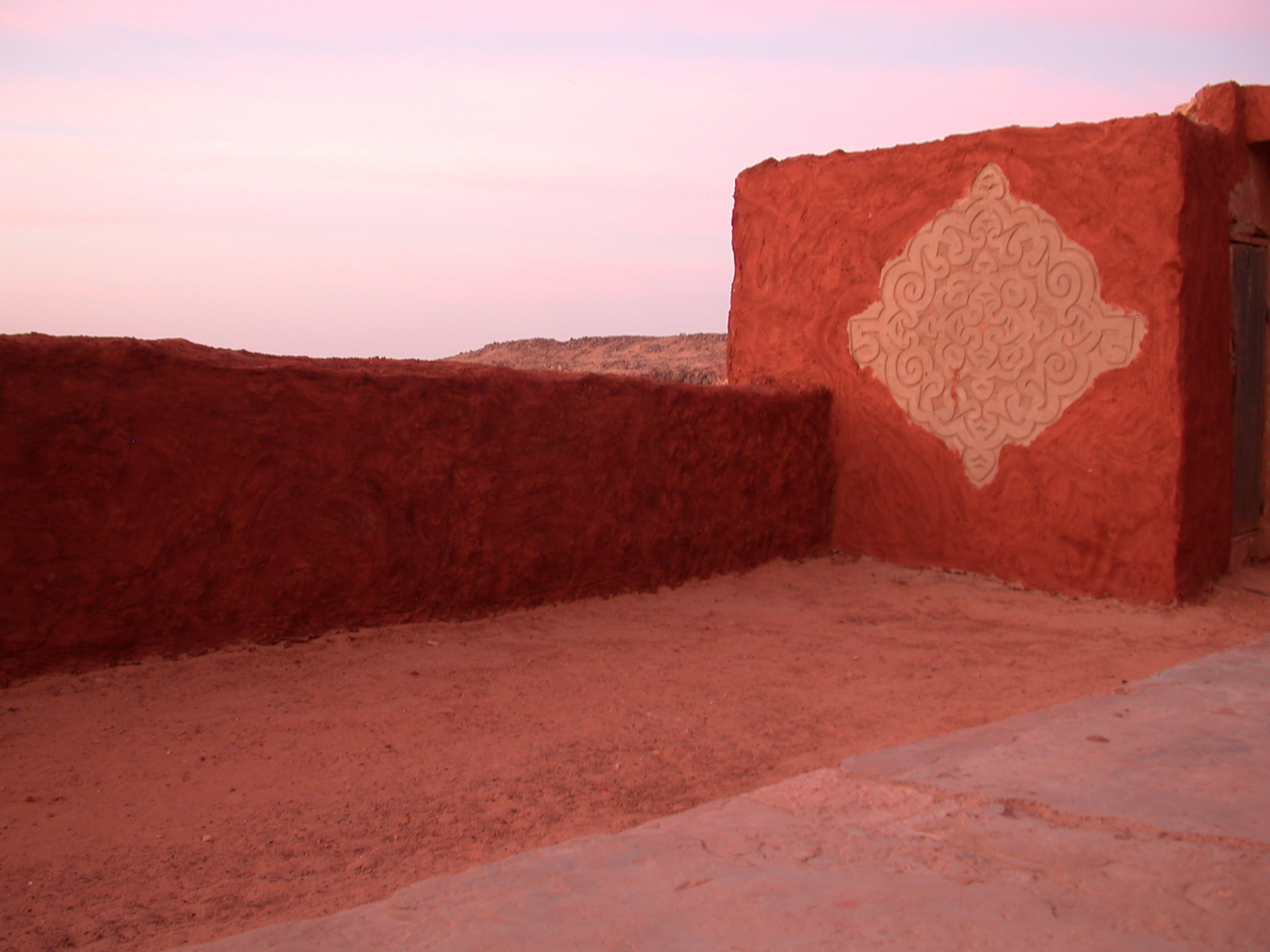 Sunrise at Hotel in Ancient City of Oulata, Mauritania
