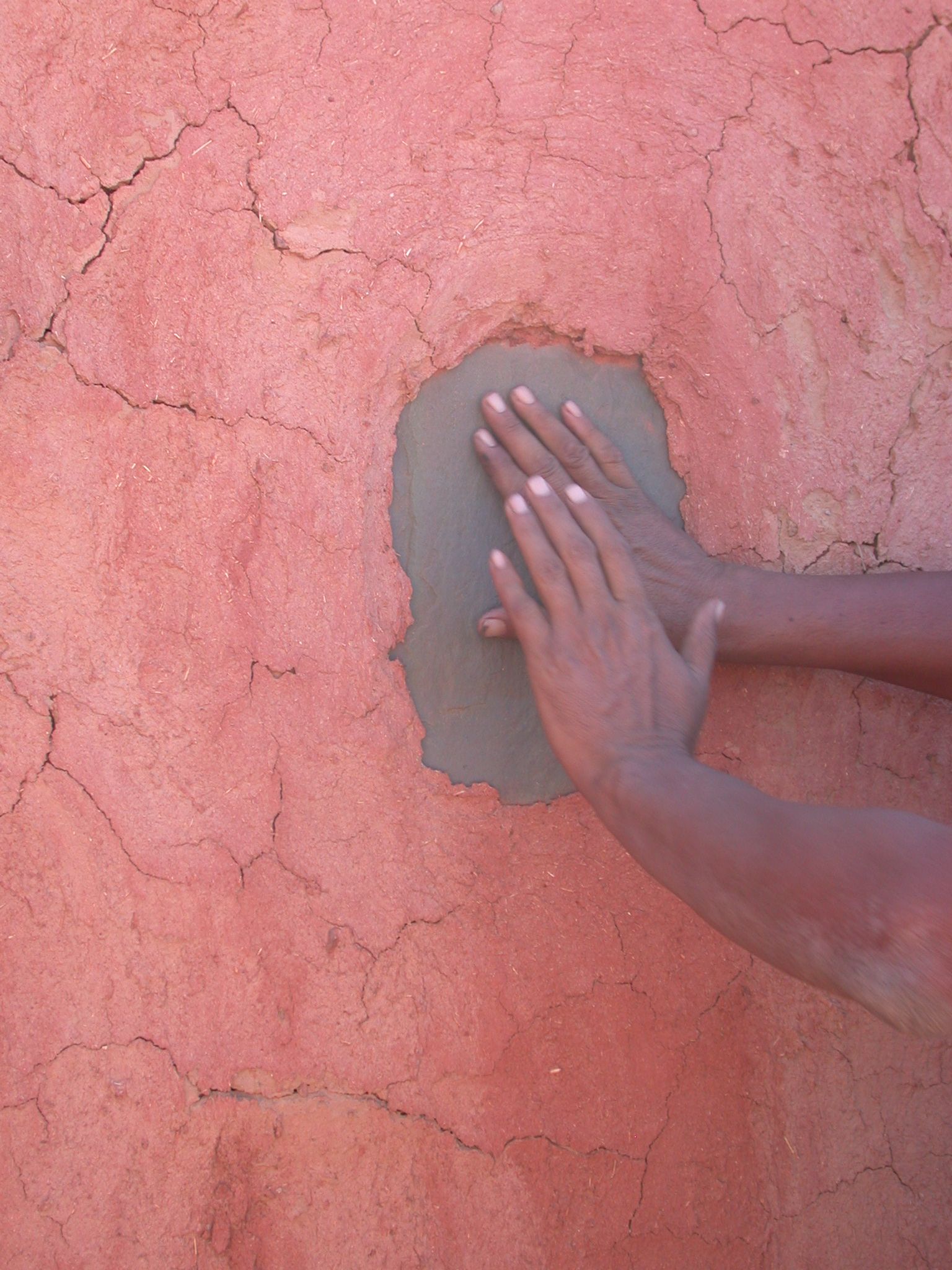 Prayer Spot on Wall When Water Unavailable, Home in Oualata, Mauritania