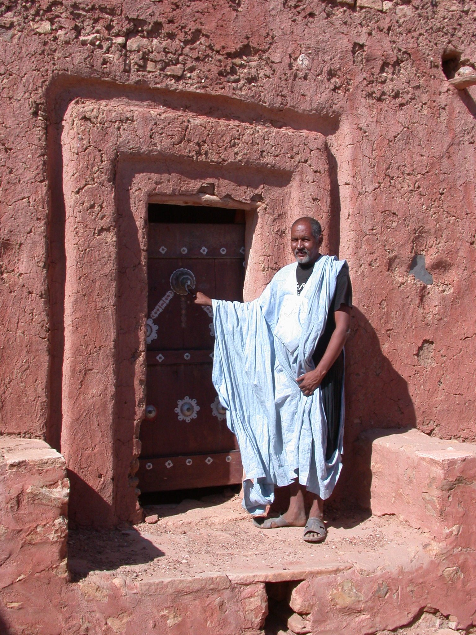 House of the Mayor, Entrance to Ancient City of Oualata, Mauritania