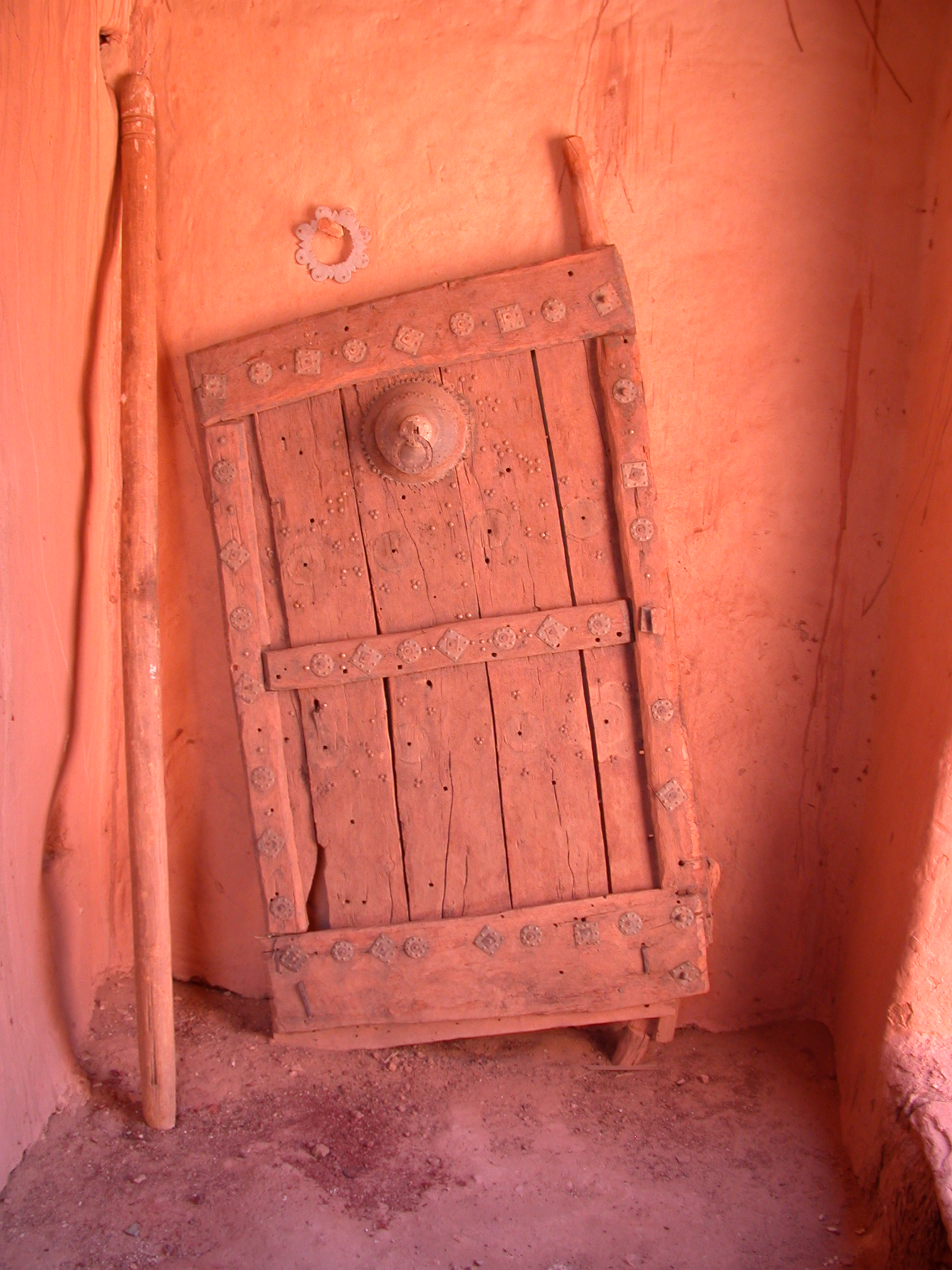 Old Door to Residence of Mayor in Ancient City of Oualata, Mauritania