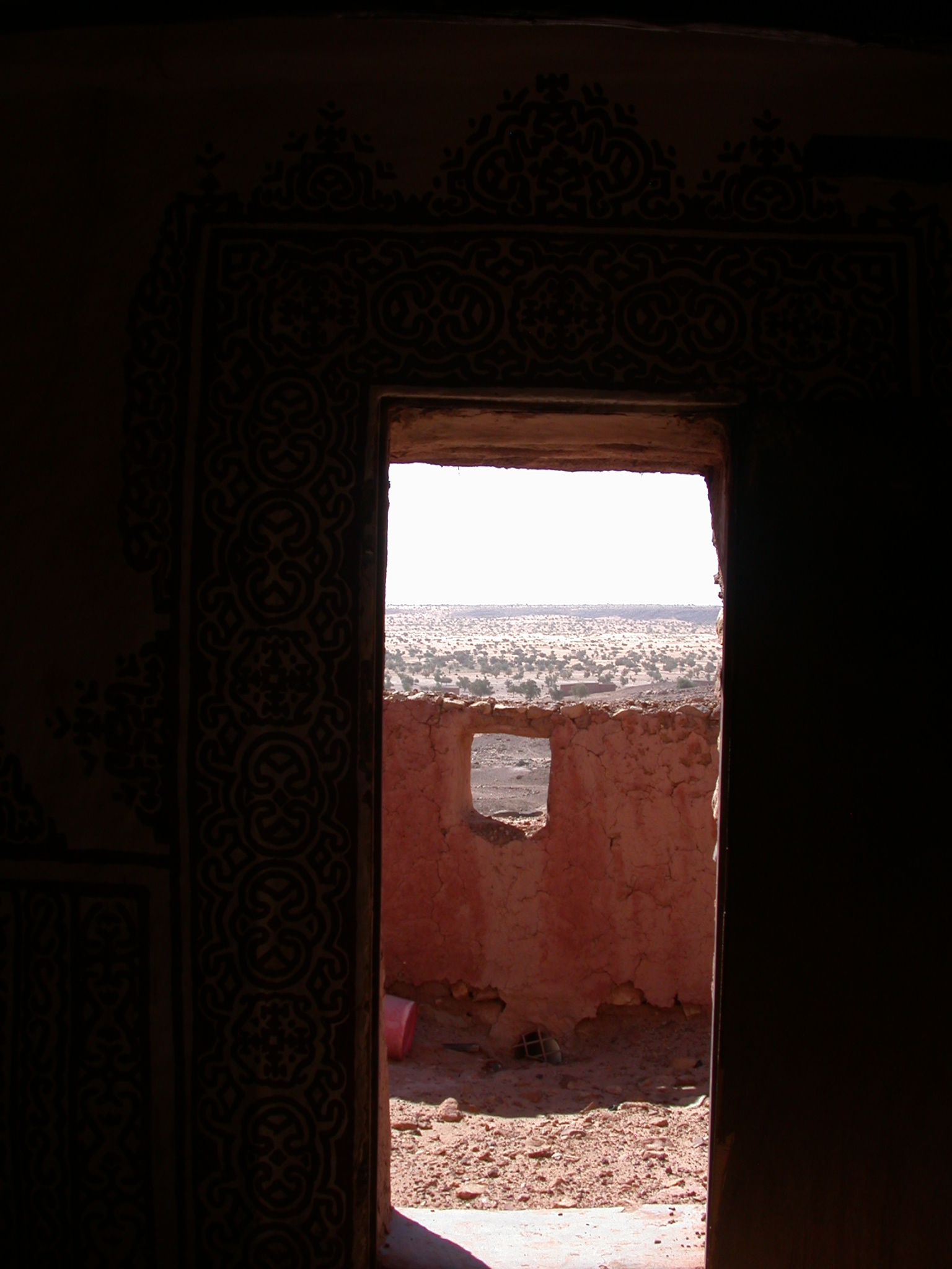 Outward View From Interior of Library in Ancient City of Oulata, Mauritania