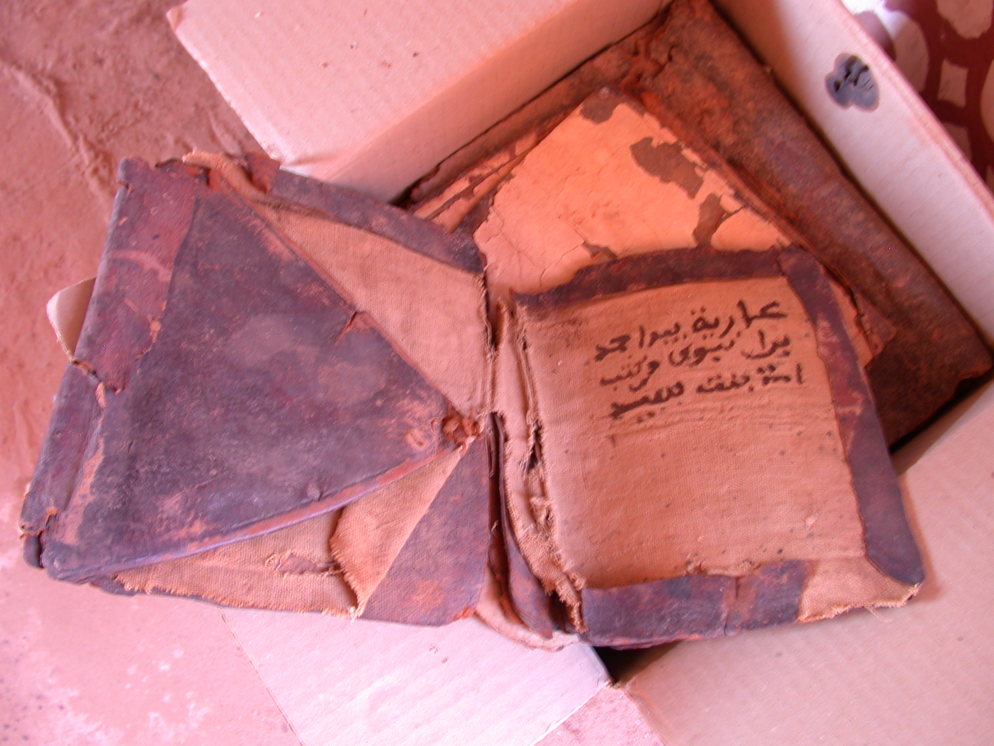 Book at Library in Ancient City of Oulata, Mauritania