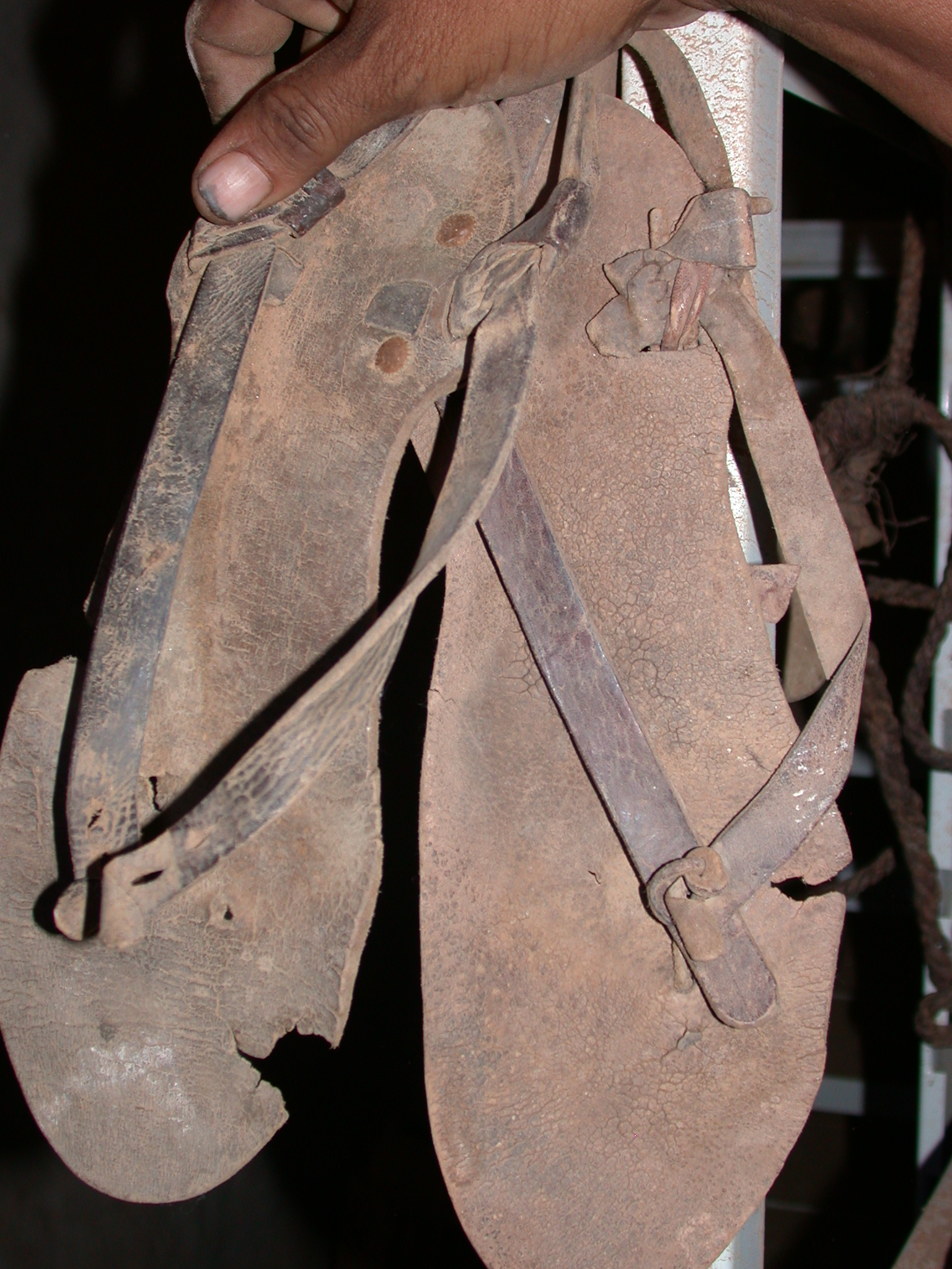 Traditional Sandals at Museum in Ancient City of Oulata, Mauritania