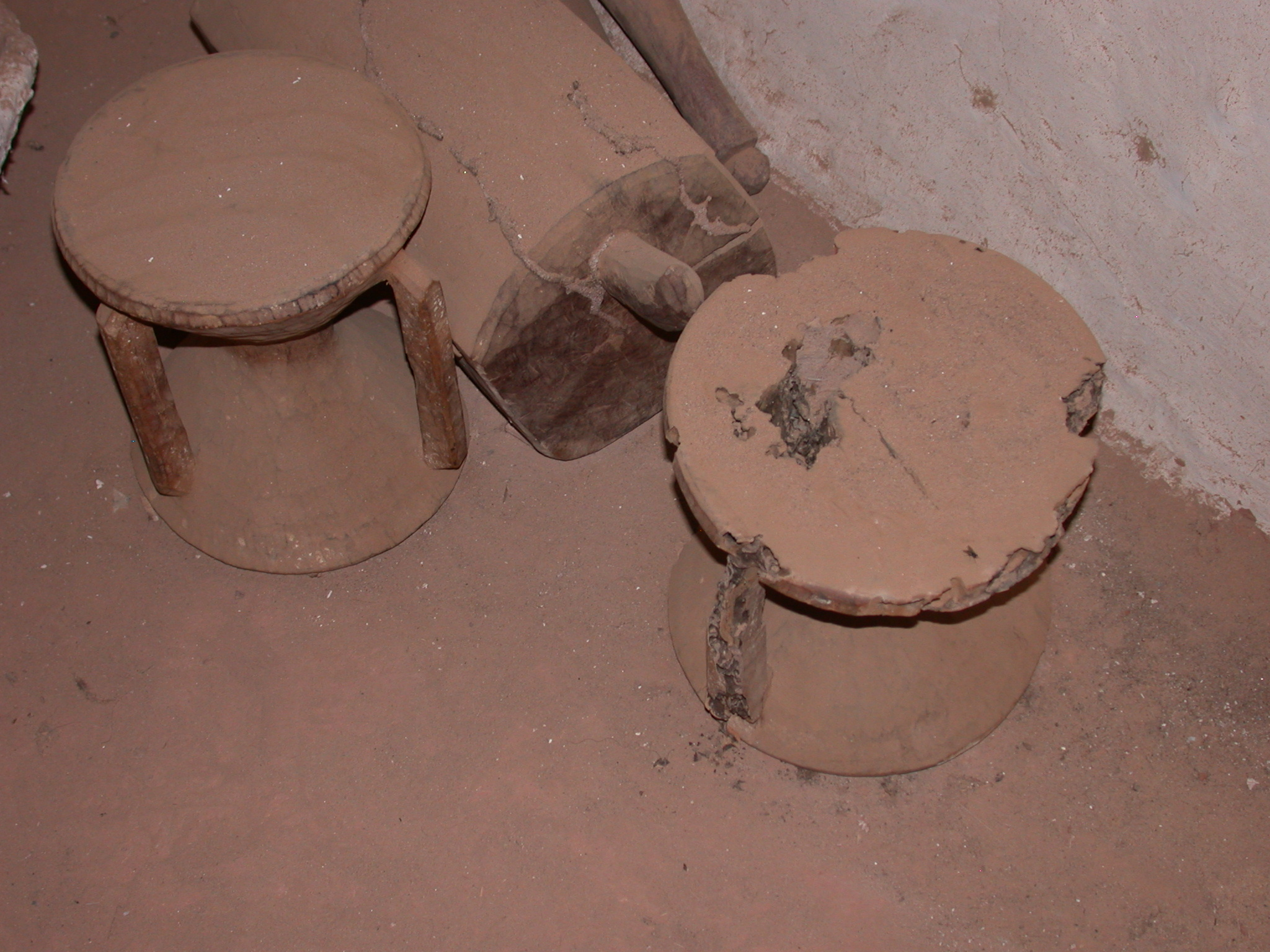 Traditional Stools at Museum in Ancient City of Oulata, Mauritania
