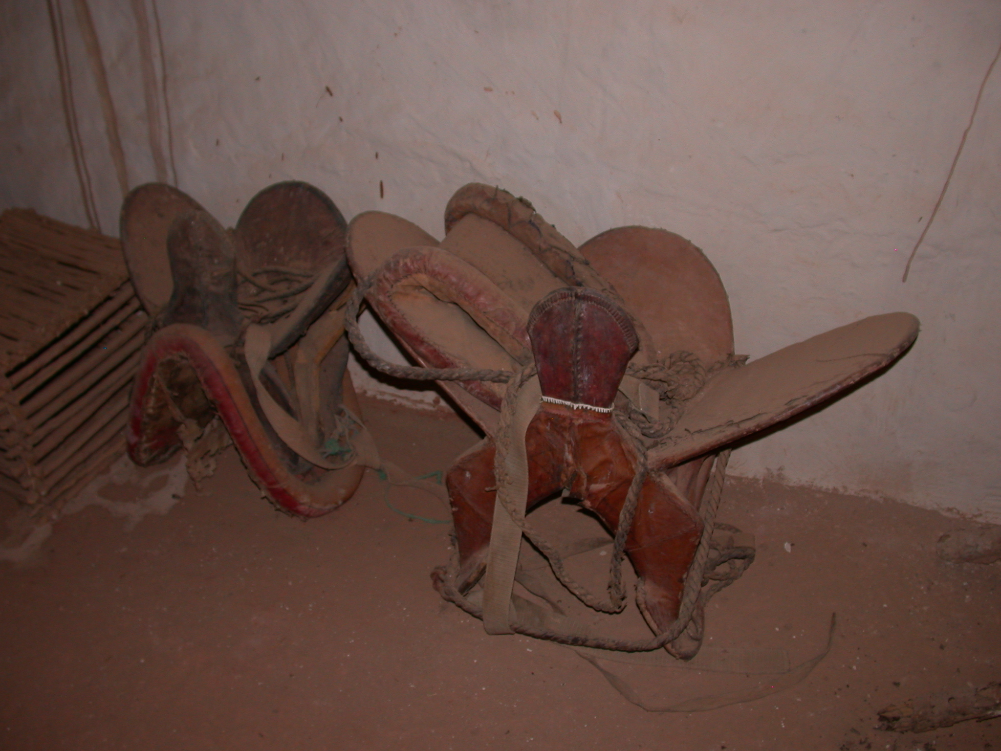 Traditional Camel Saddles at Museum in Ancient City of Oulata, Mauritania