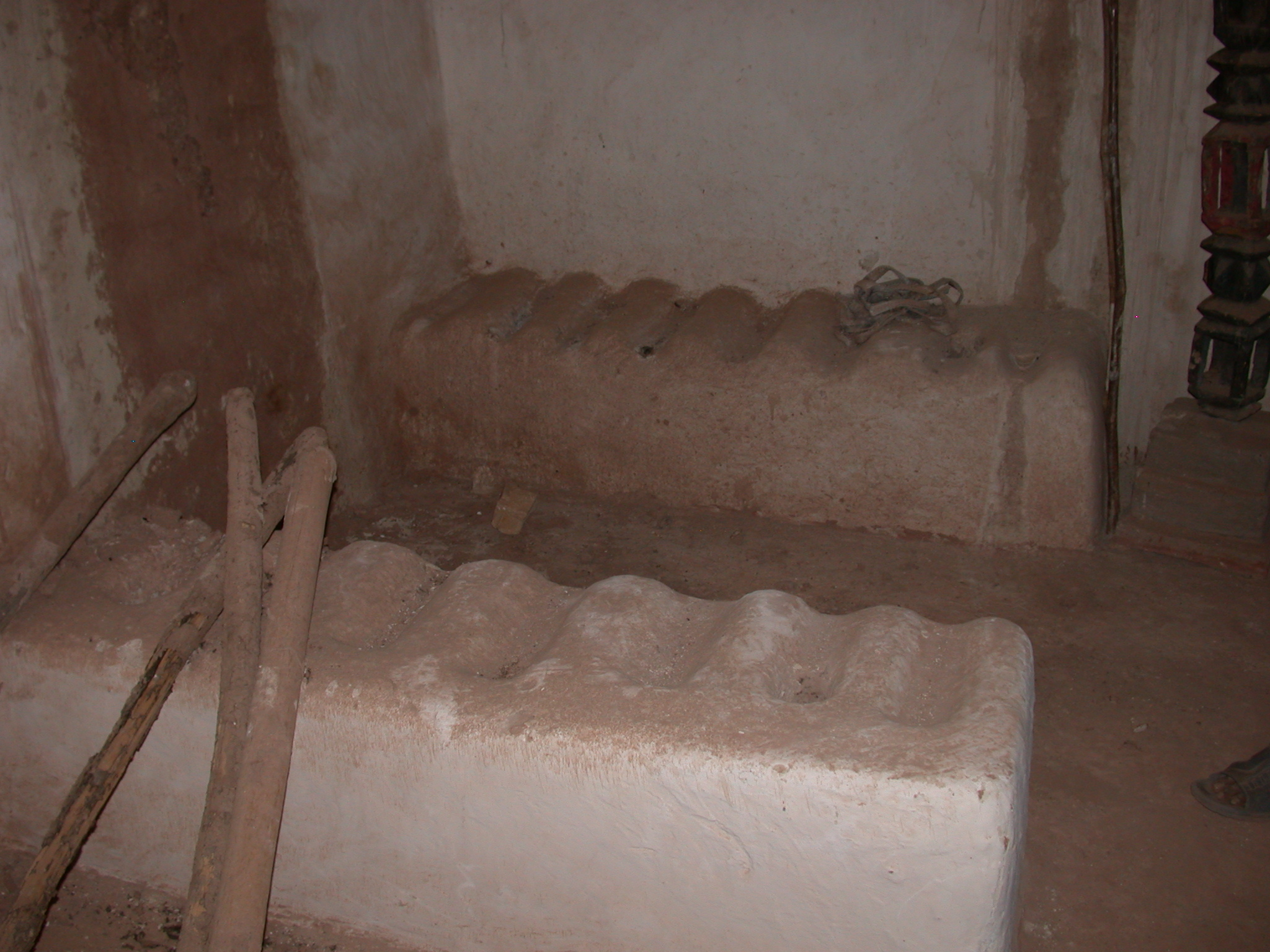 Traditional Bed Platform at Museum in Ancient City of Oulata, Mauritania