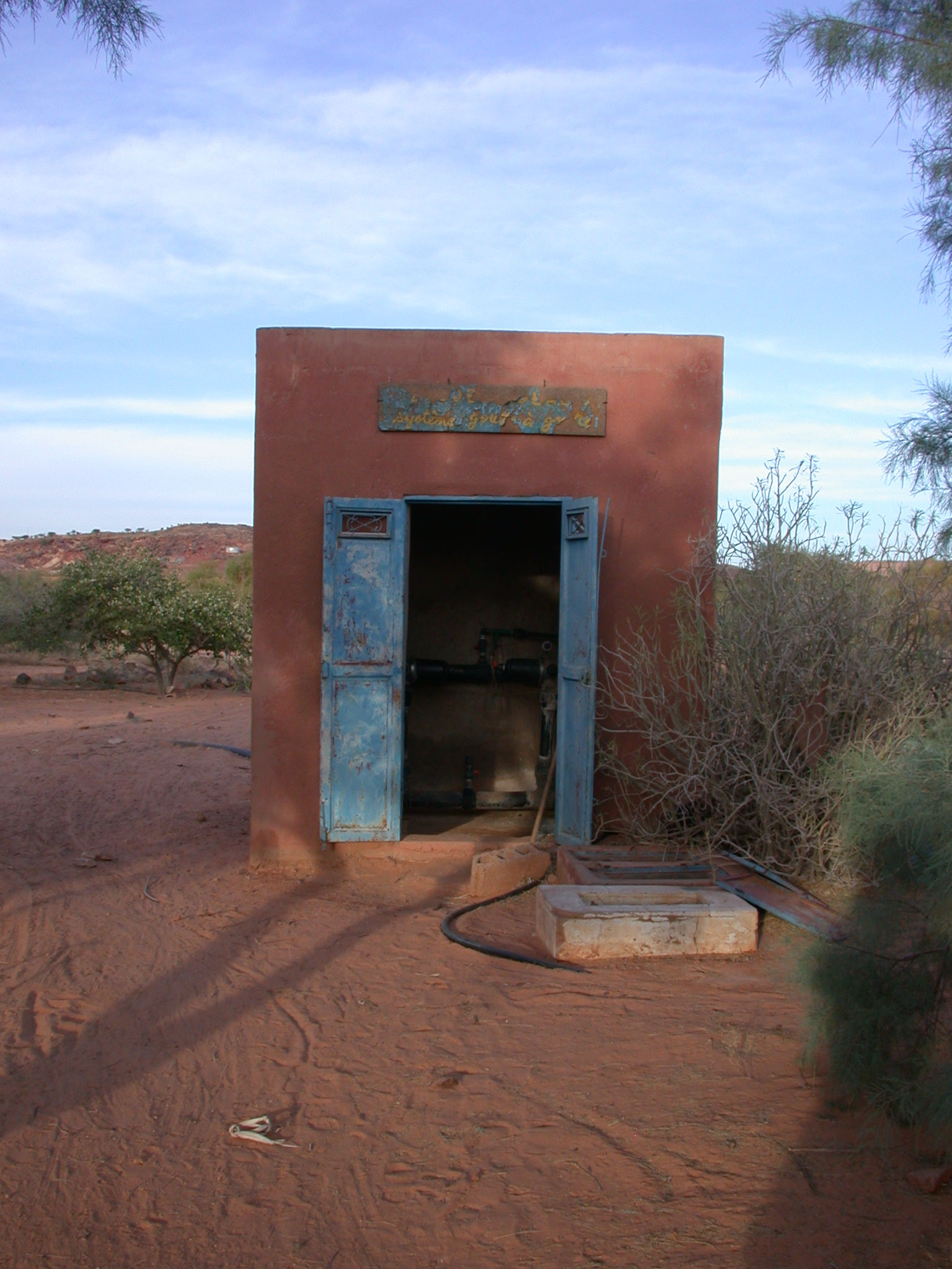Water Pumping Station at Farming Cooperative Project in Oualata, Mauritania