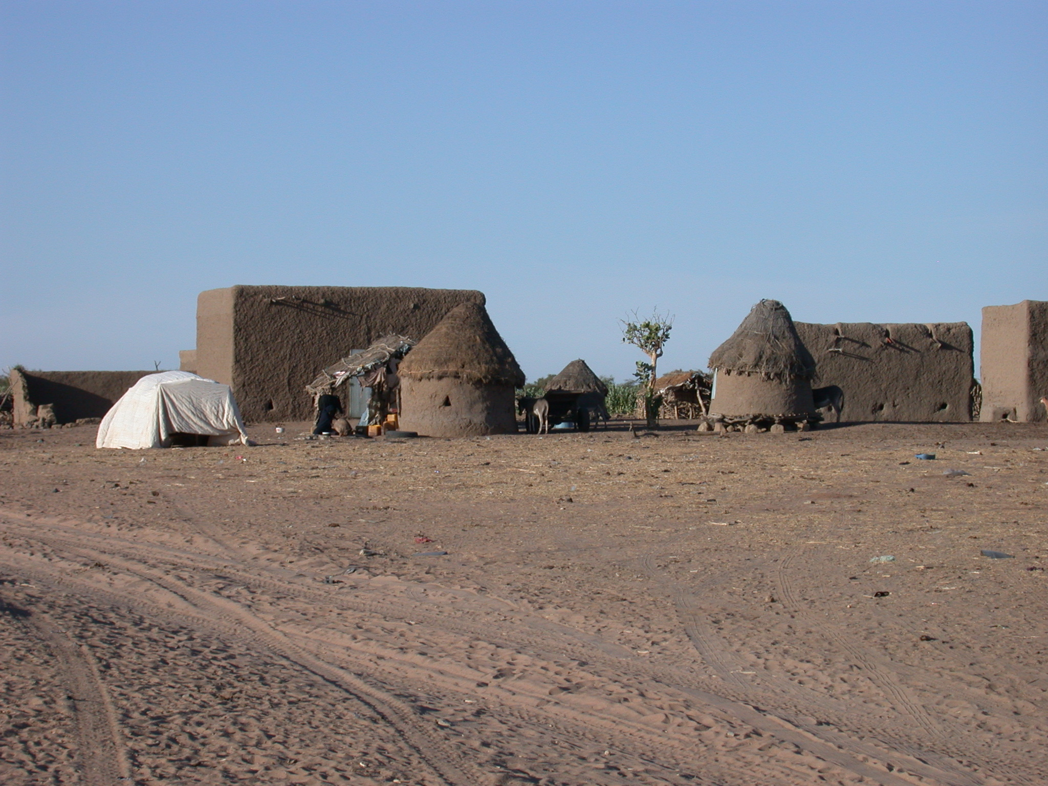 Traditional Cone-on-Cylinder Construction Along Route From Oualata to Nema, Mauritania