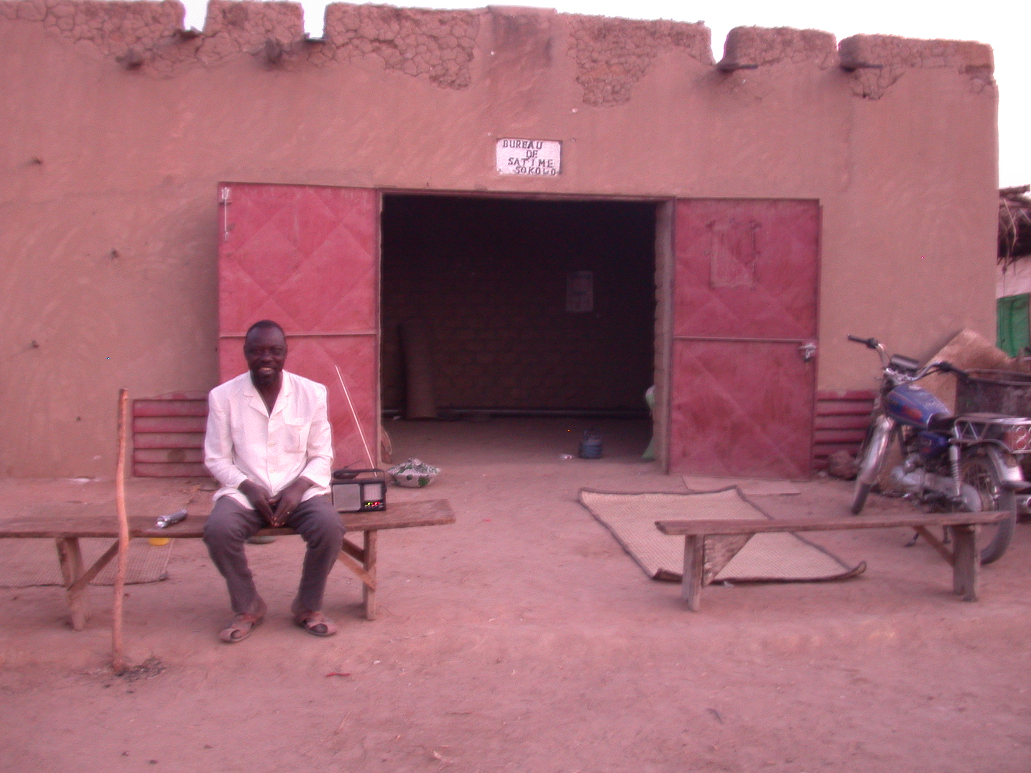 Guardian at Syndicat Resting Place in Sokolo, Mali