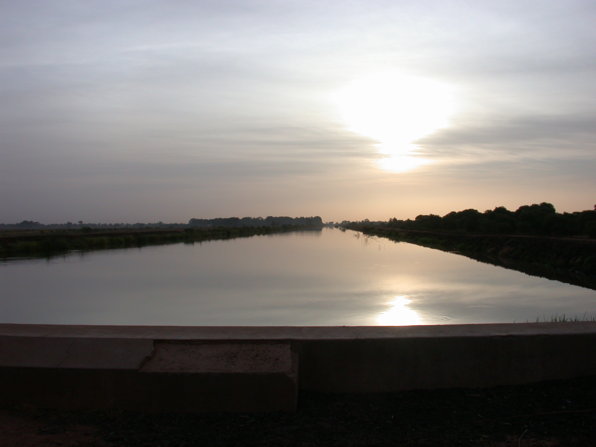 Sunrise on the Route From Sokolo to Niono, Mali