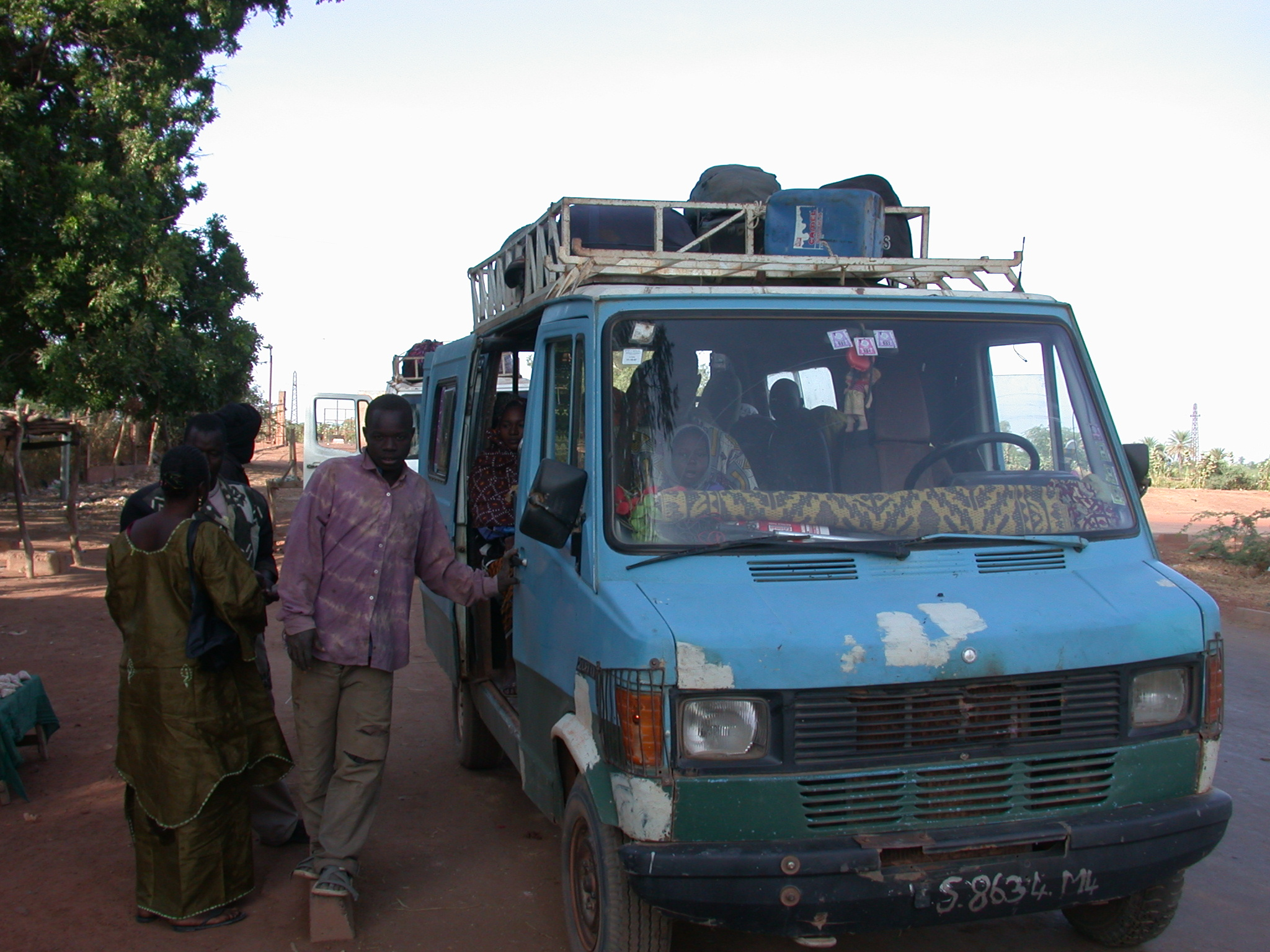 Vehicle on the Route From Sokolo to Niono, Mali