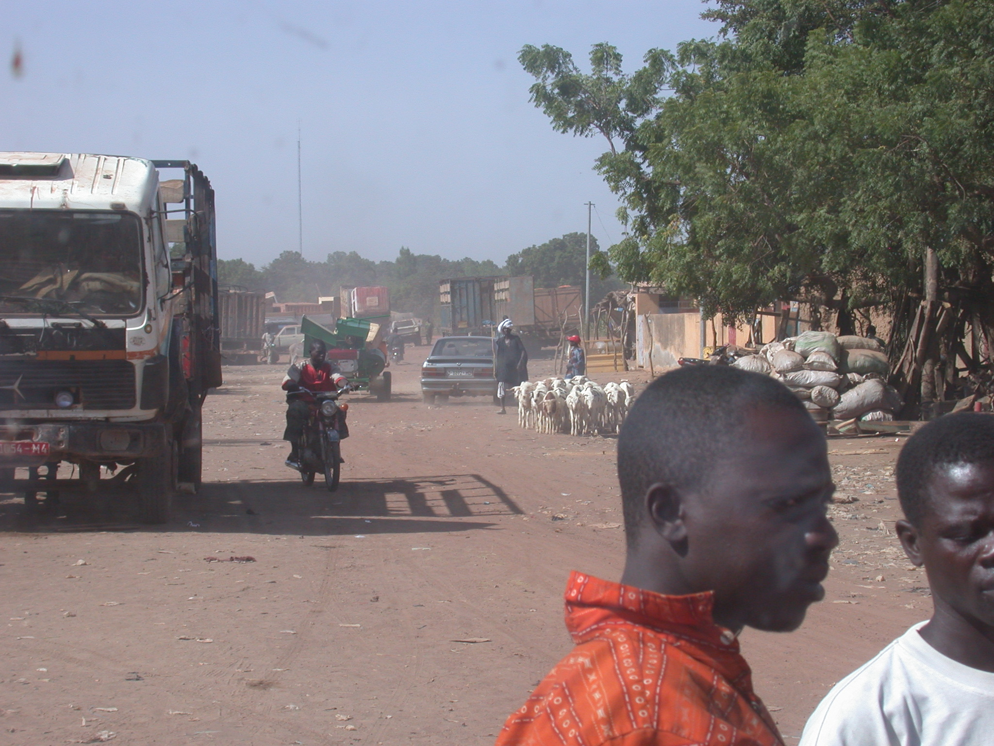 City Scene in Niono, Mali