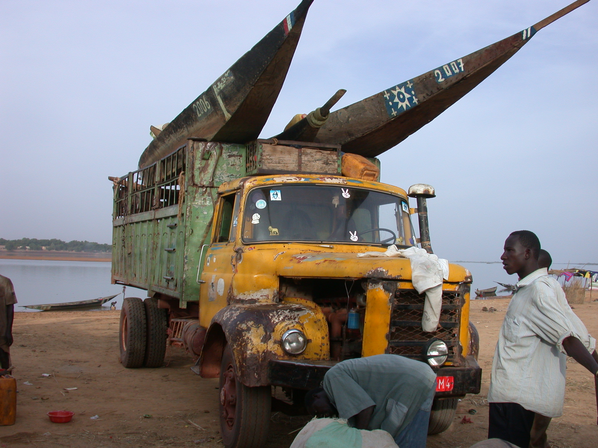 Truck Carrying Pinasses I Rode From Massina to Say, Mali