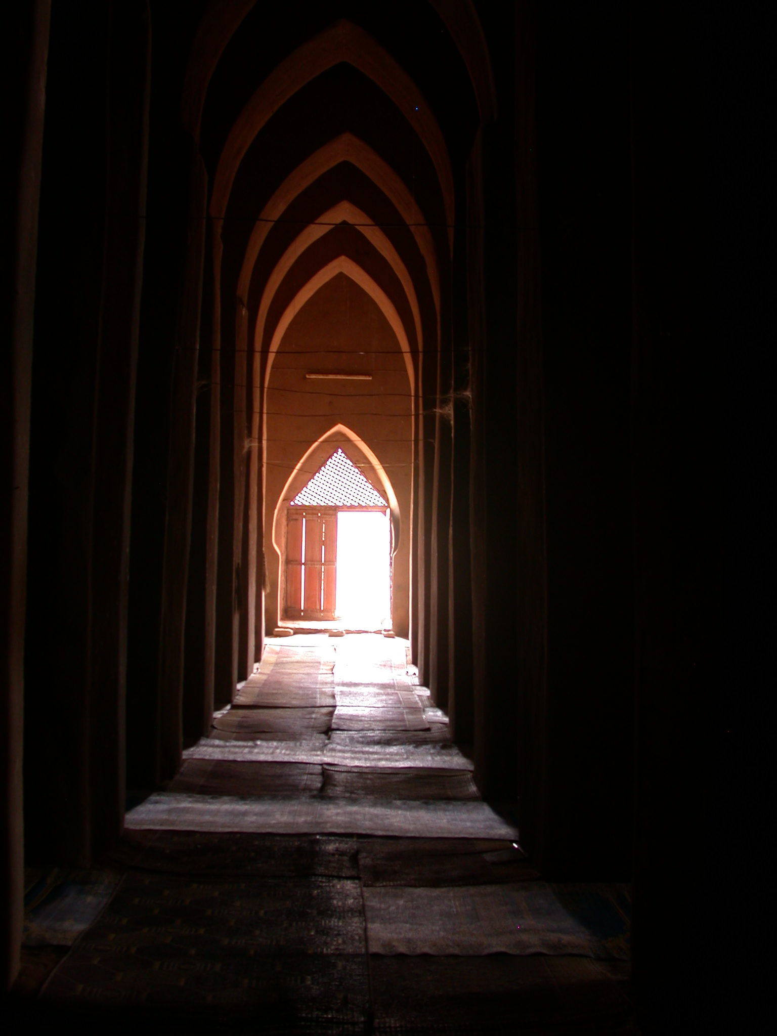 Interior Corridor of Mosque in Jenne, Mali