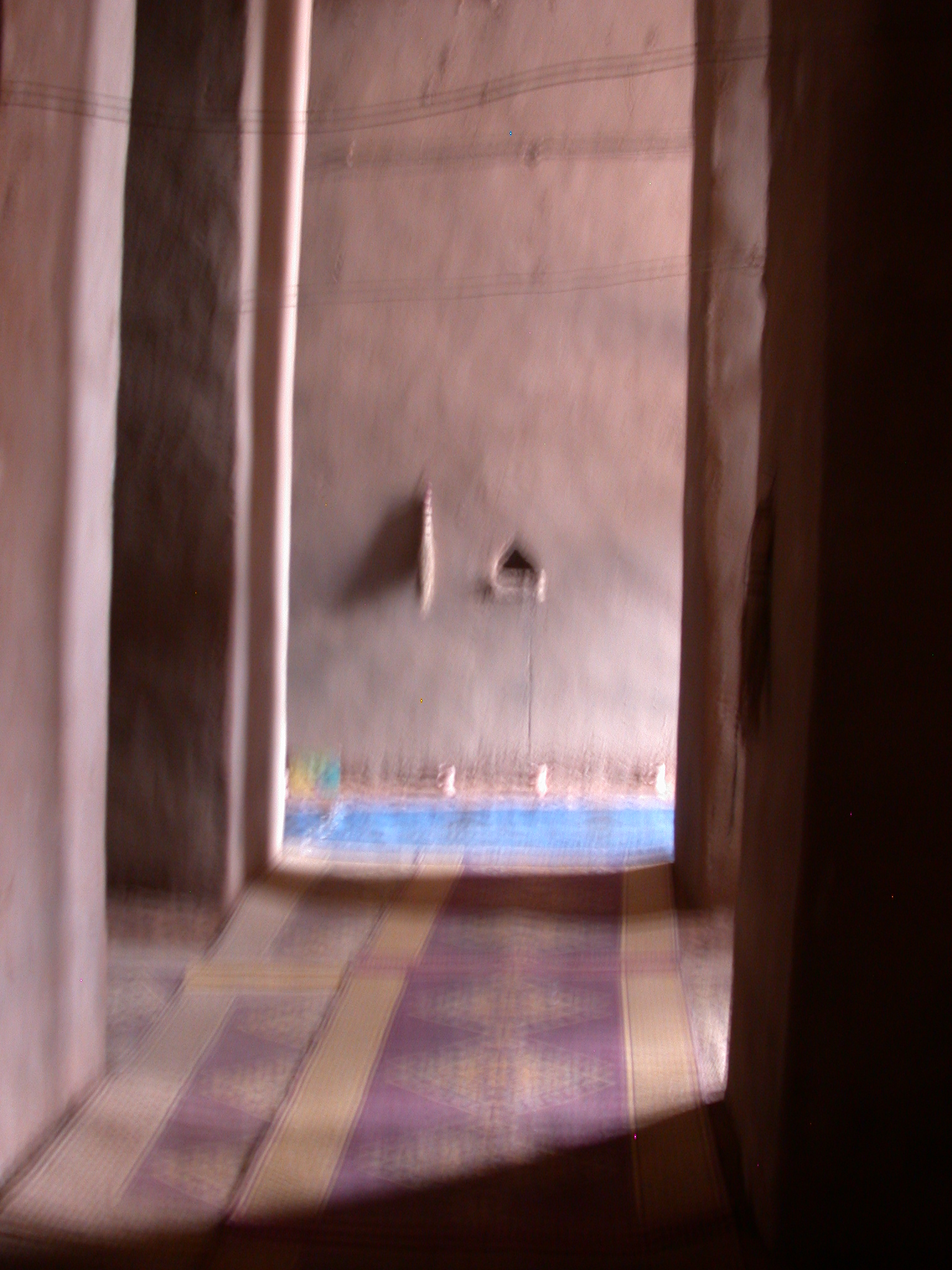Interior of Mosque in Jenne, Mali