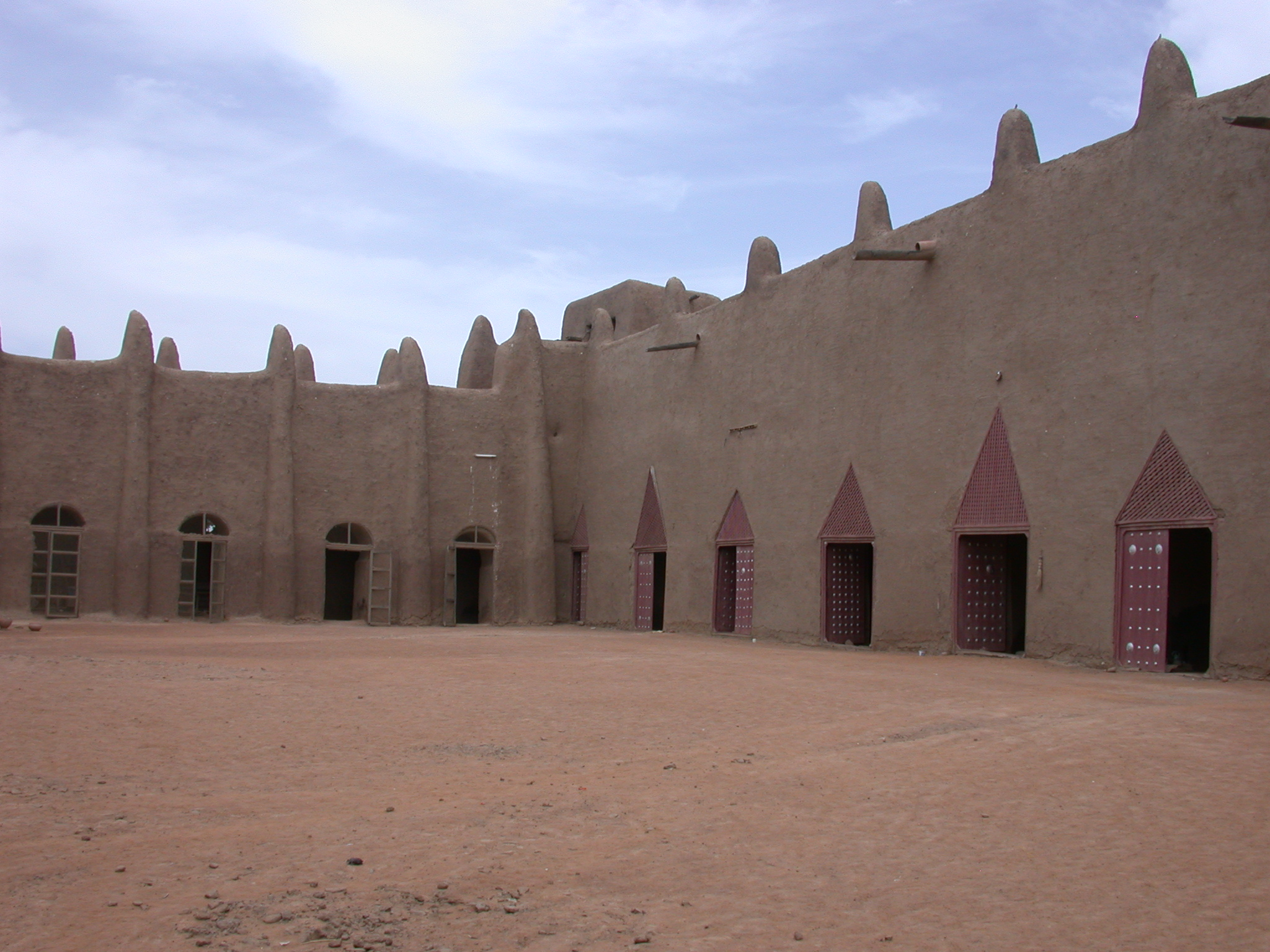 Courtyard of Mosque in Jenne, Mali