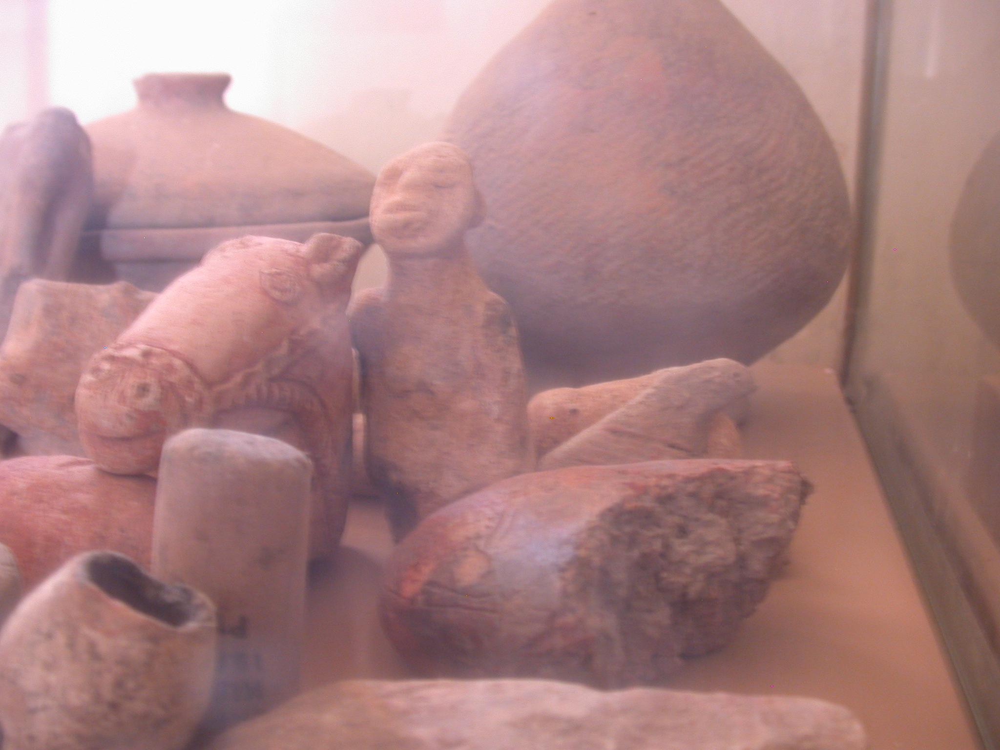 Artifacts at Museum at Jenne-Jeno, Mali