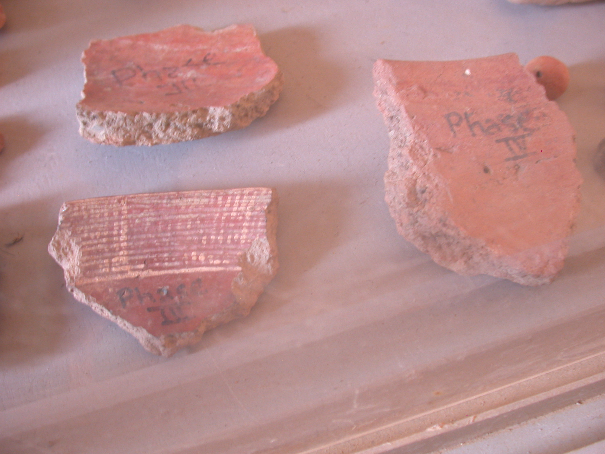 Pottery Phases of Artifacts at Museum at Jenne-Jeno, Mali