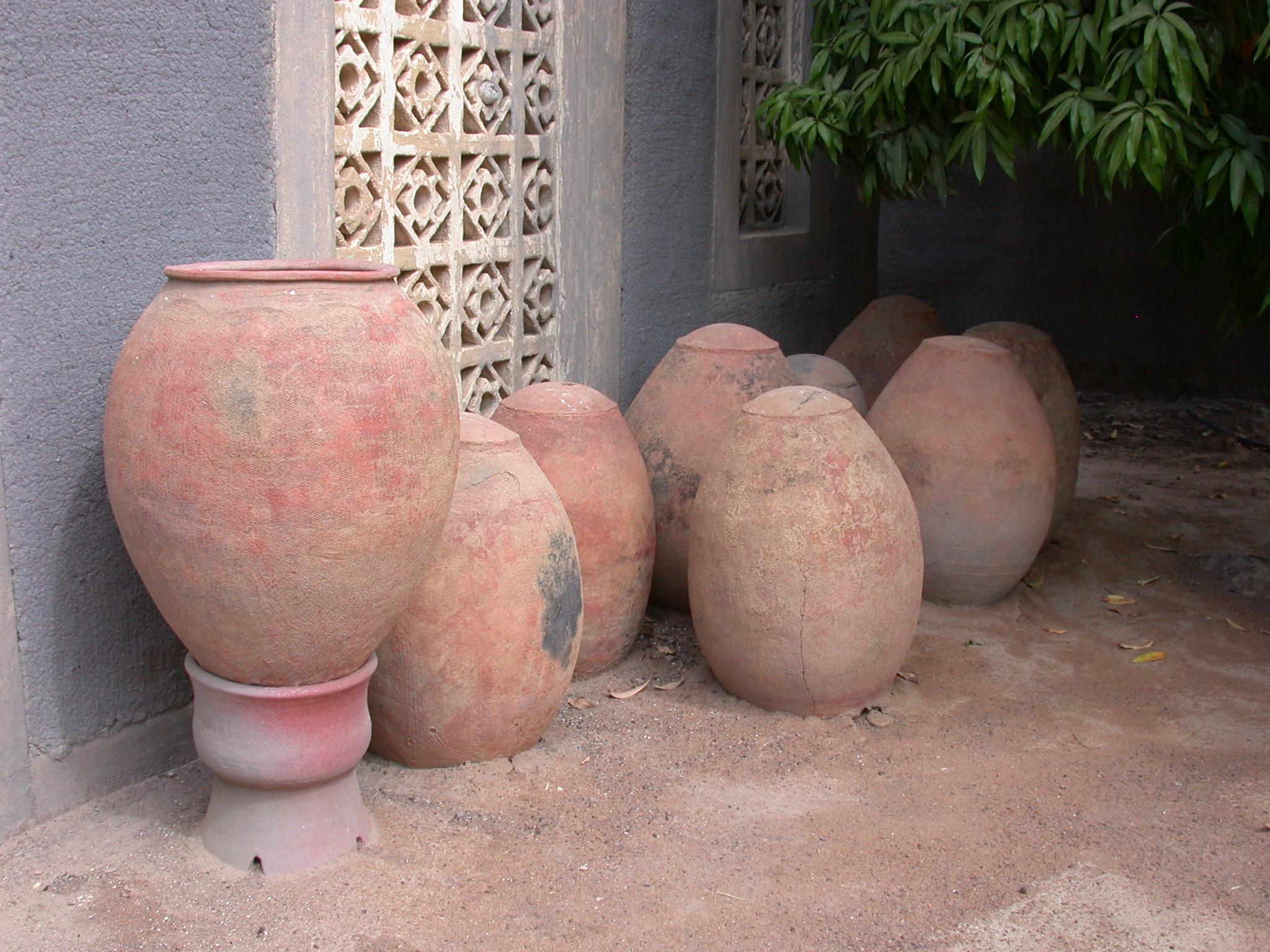 Funerary Pots at Museum at Jenne-Jeno, Mali